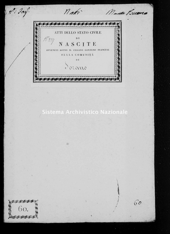 Archivio di stato di Firenze - Stato civile di Toscana (1808-1865) - Montebuono - Nati - 1809 - 410, Parte 2 -
