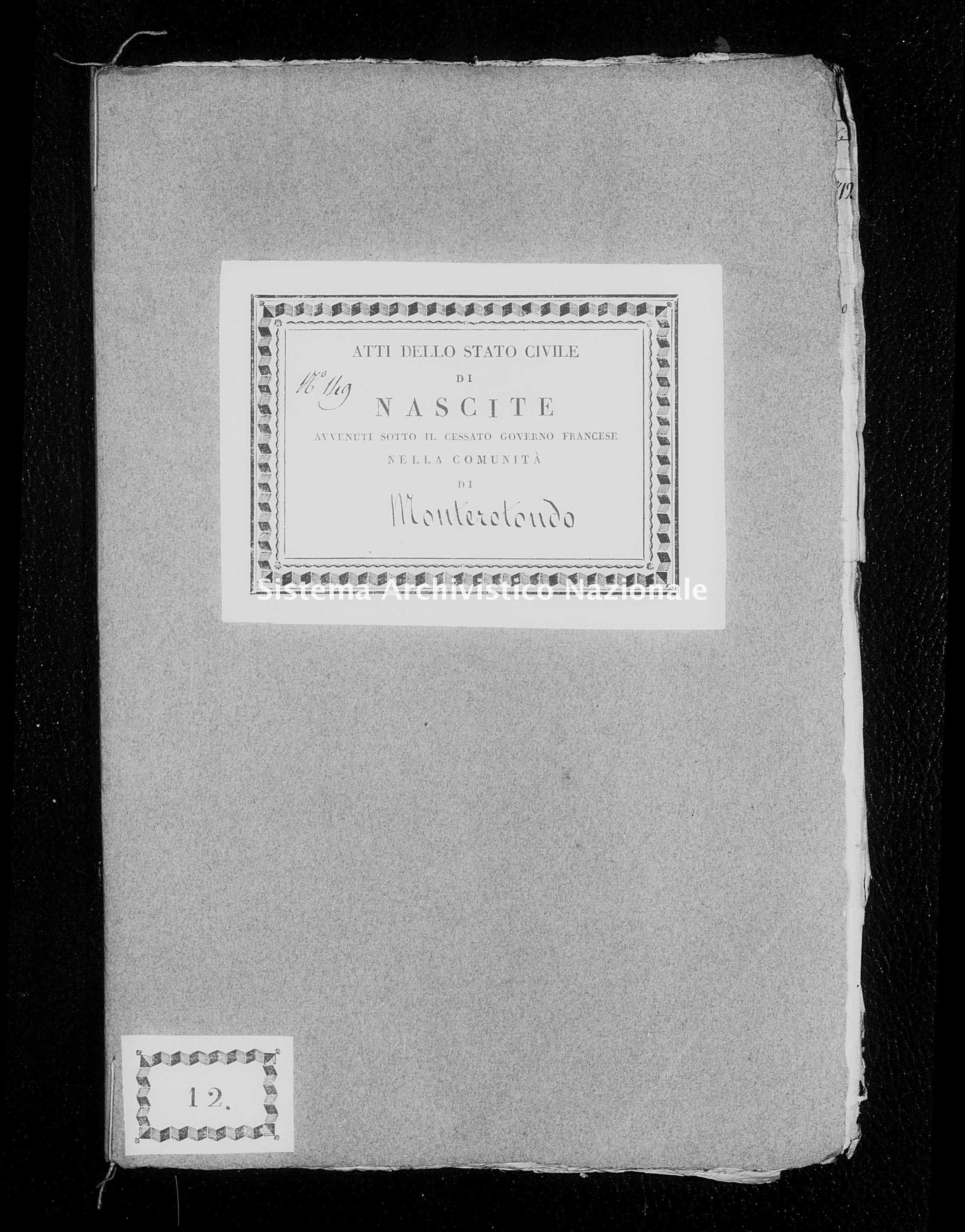Archivio di stato di Firenze - Stato civile di Toscana (1808-1865) - Monterotondo - Nati - 1812 - 266 -