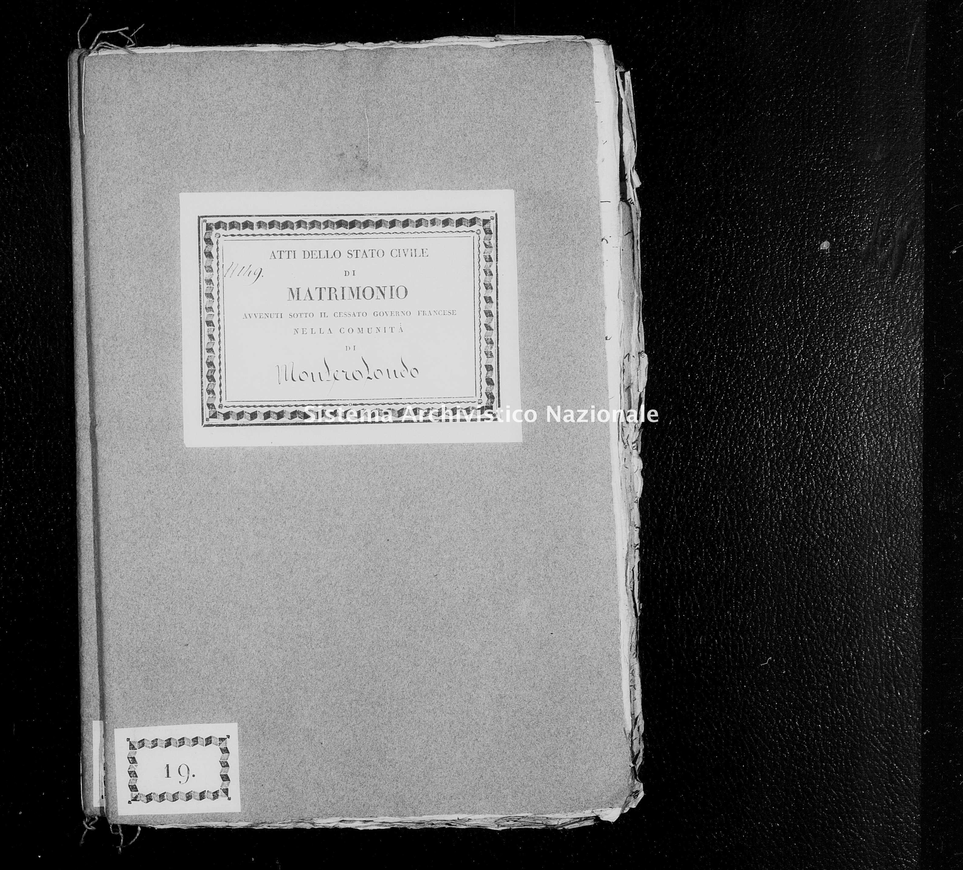 Archivio di stato di Firenze - Stato civile di Toscana (1808-1865) - Monterotondo - Matrimoni - 1812 - 266 -