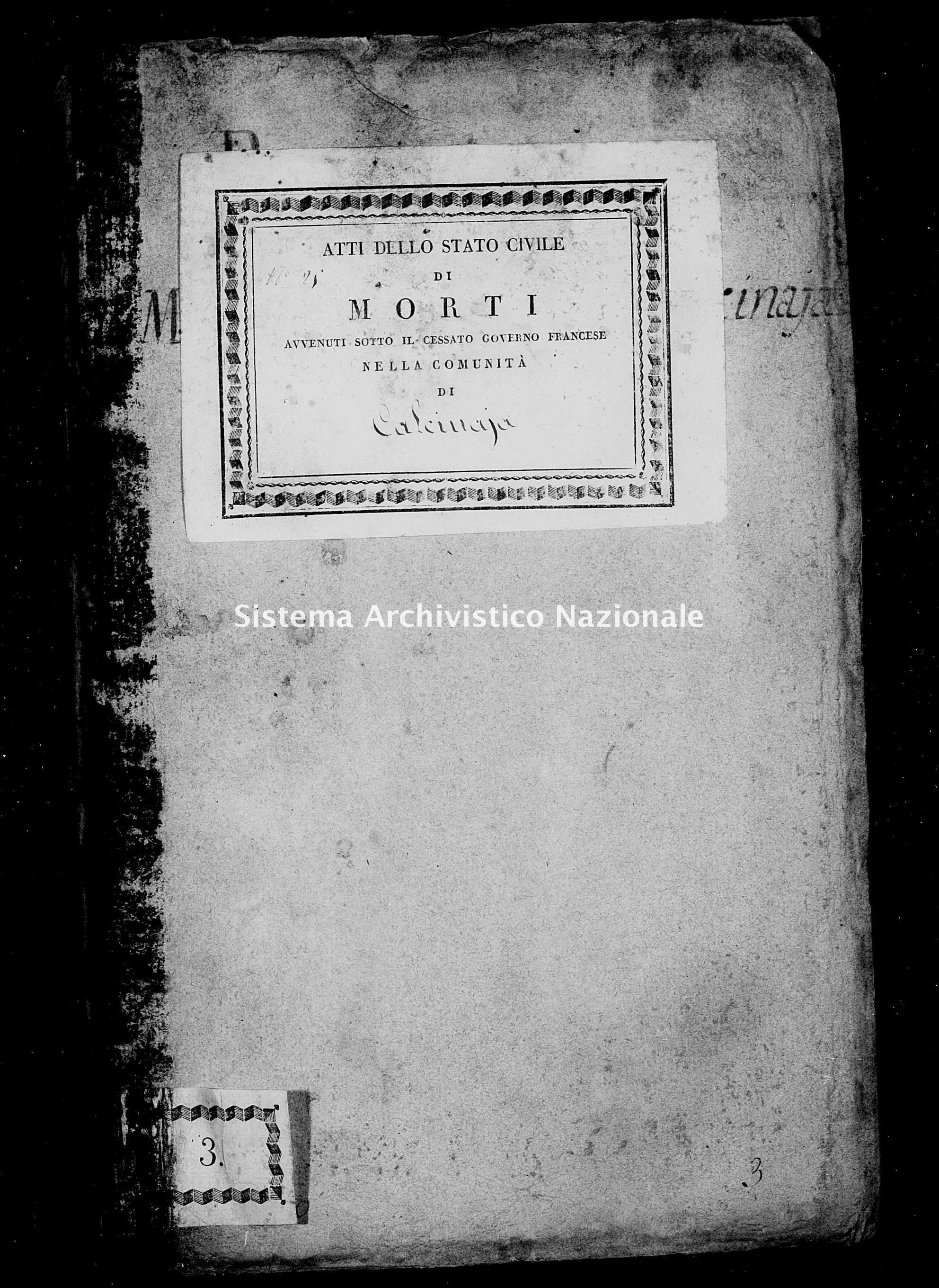 Archivio di stato di Firenze - Stato civile di Toscana (1808-1865) - Calcinaia - Morti - 1810 - 49 -