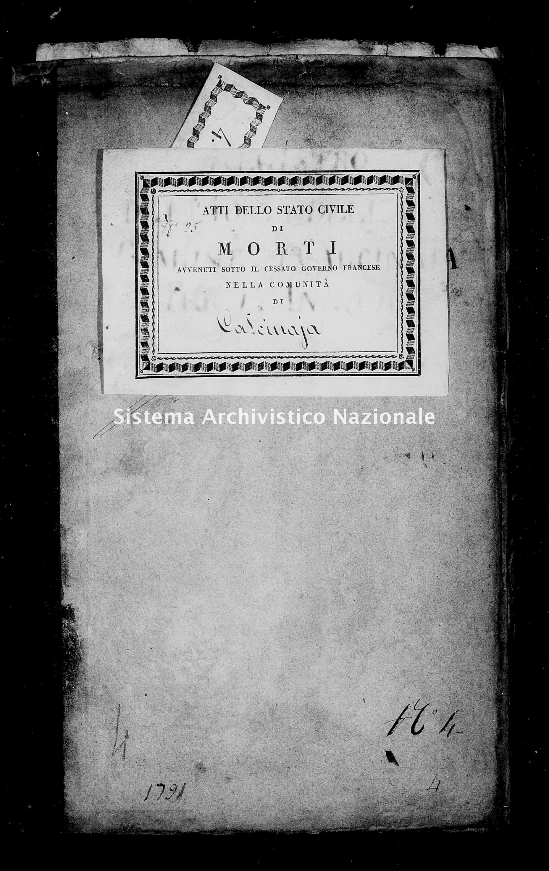 Archivio di stato di Firenze - Stato civile di Toscana (1808-1865) - Calcinaia - Morti - 1811 - 49 -