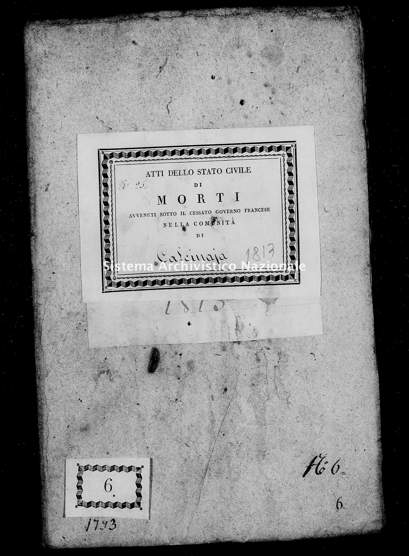 Archivio di stato di Firenze - Stato civile di Toscana (1808-1865) - Calcinaia - Morti - 1813 - 49 -