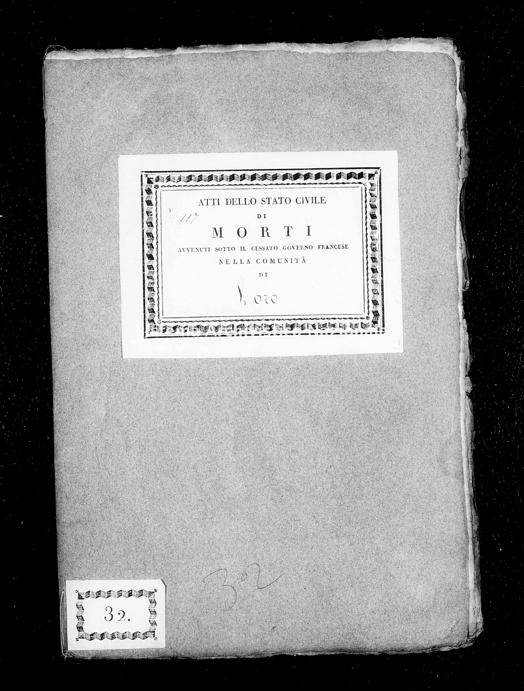 Archivio di stato di Firenze - Stato civile di Toscana (1808-1865) - Faeto - Morti - 1814 - 213 -