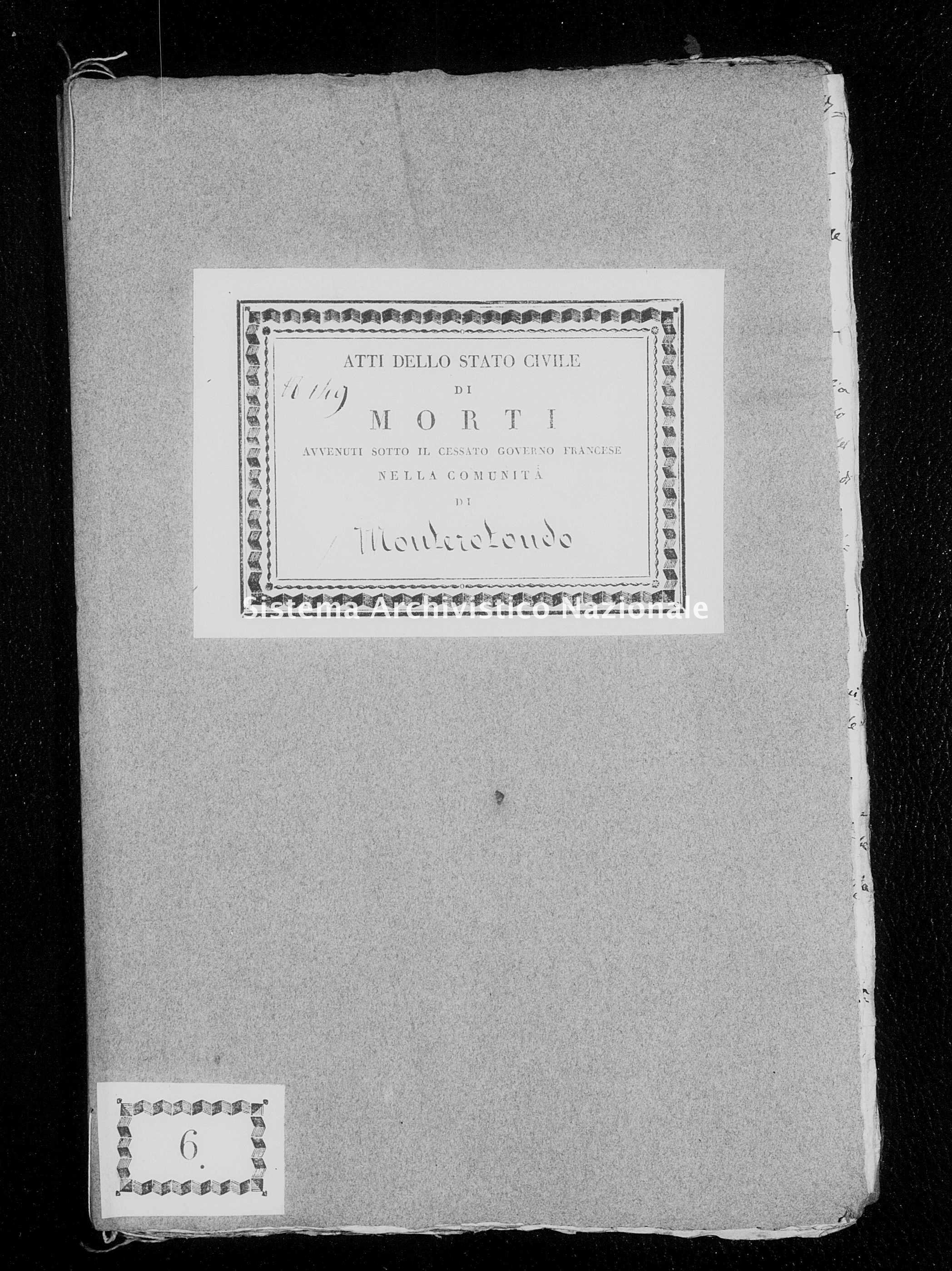 Archivio di stato di Firenze - Stato civile di Toscana (1808-1865) - Monterotondo - Morti - 1813 - 266 -