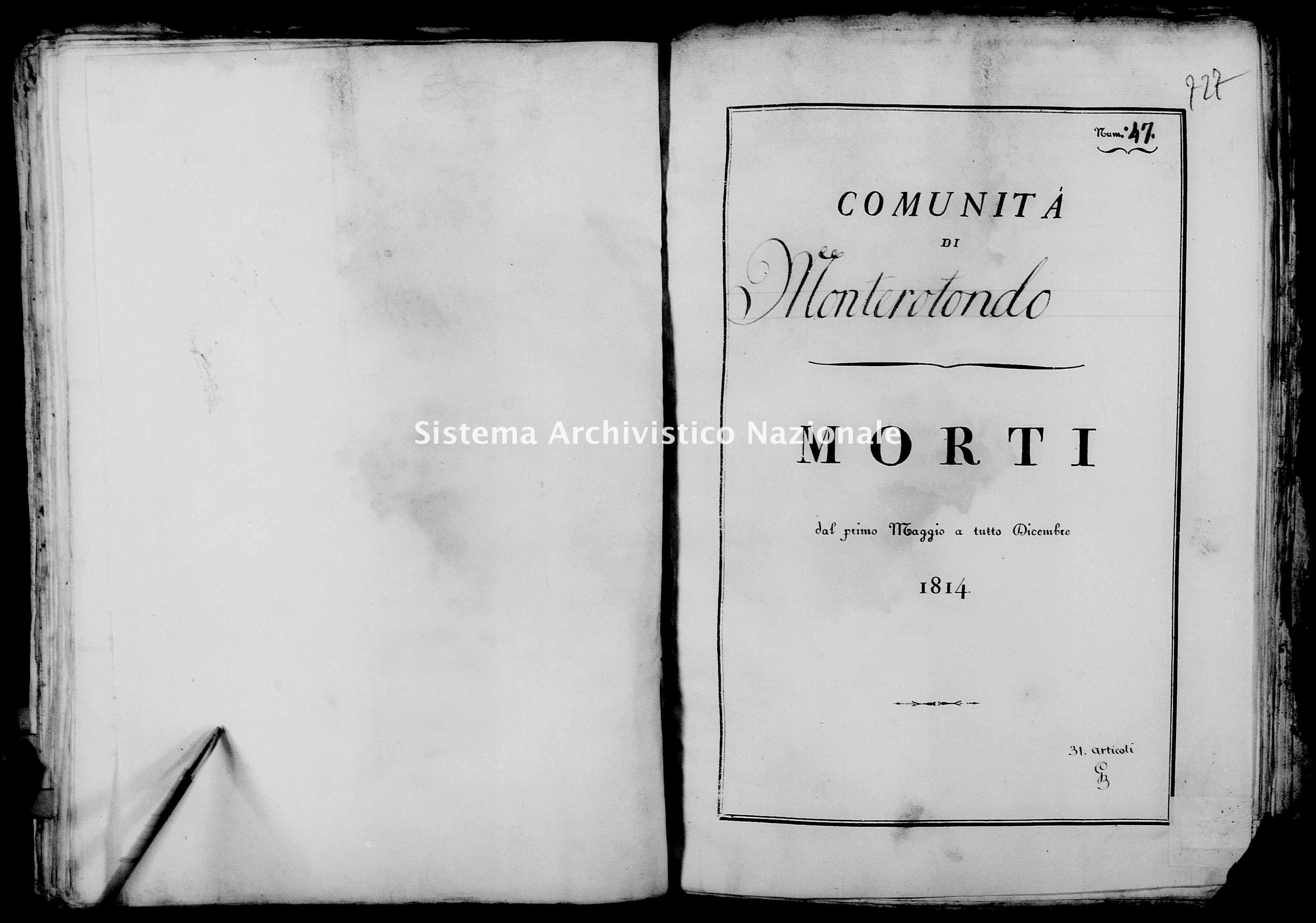 Archivio di stato di Firenze - Stato civile di Toscana (1808-1865) - Monterotondo - Morti - 1814 - 4 -