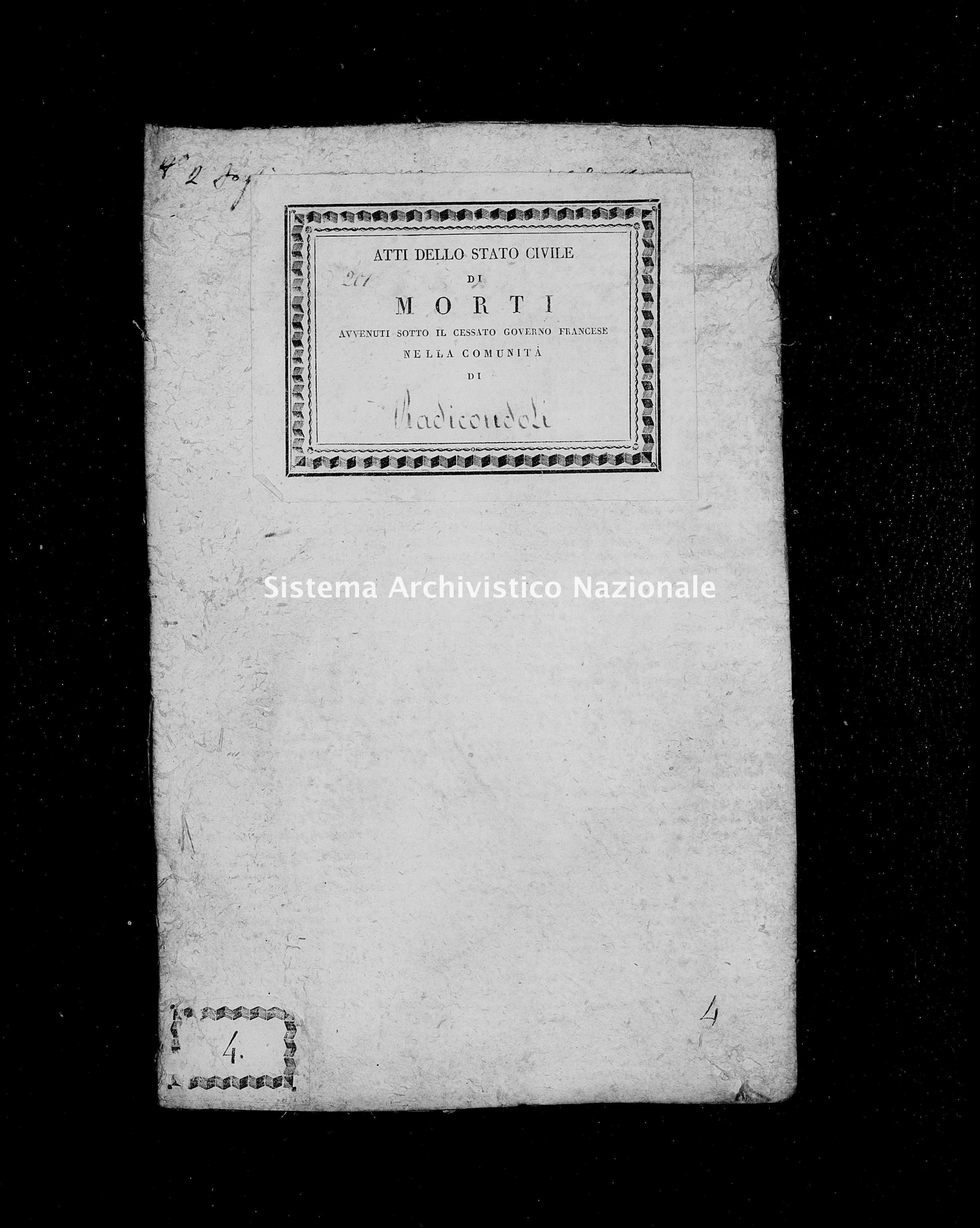 Archivio di stato di Firenze - Stato civile di Toscana (1808-1865) - San Lorenzo - Morti - 1809 - 365 -