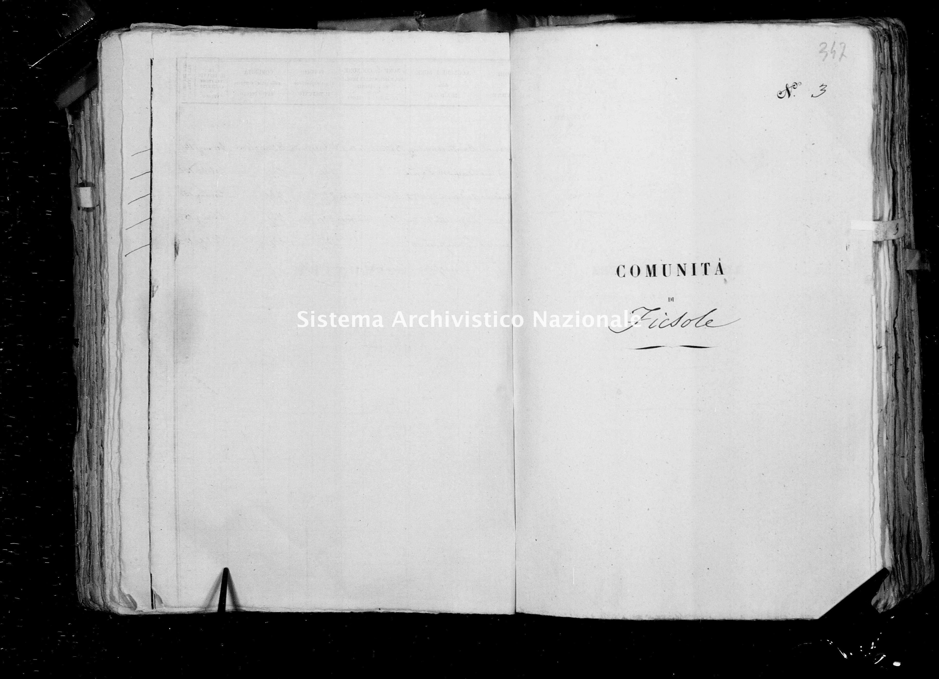 Archivio di stato di Firenze - Stato civile di Toscana (1808-1865) - Fiesole - Morti - 1853 - 1869 -