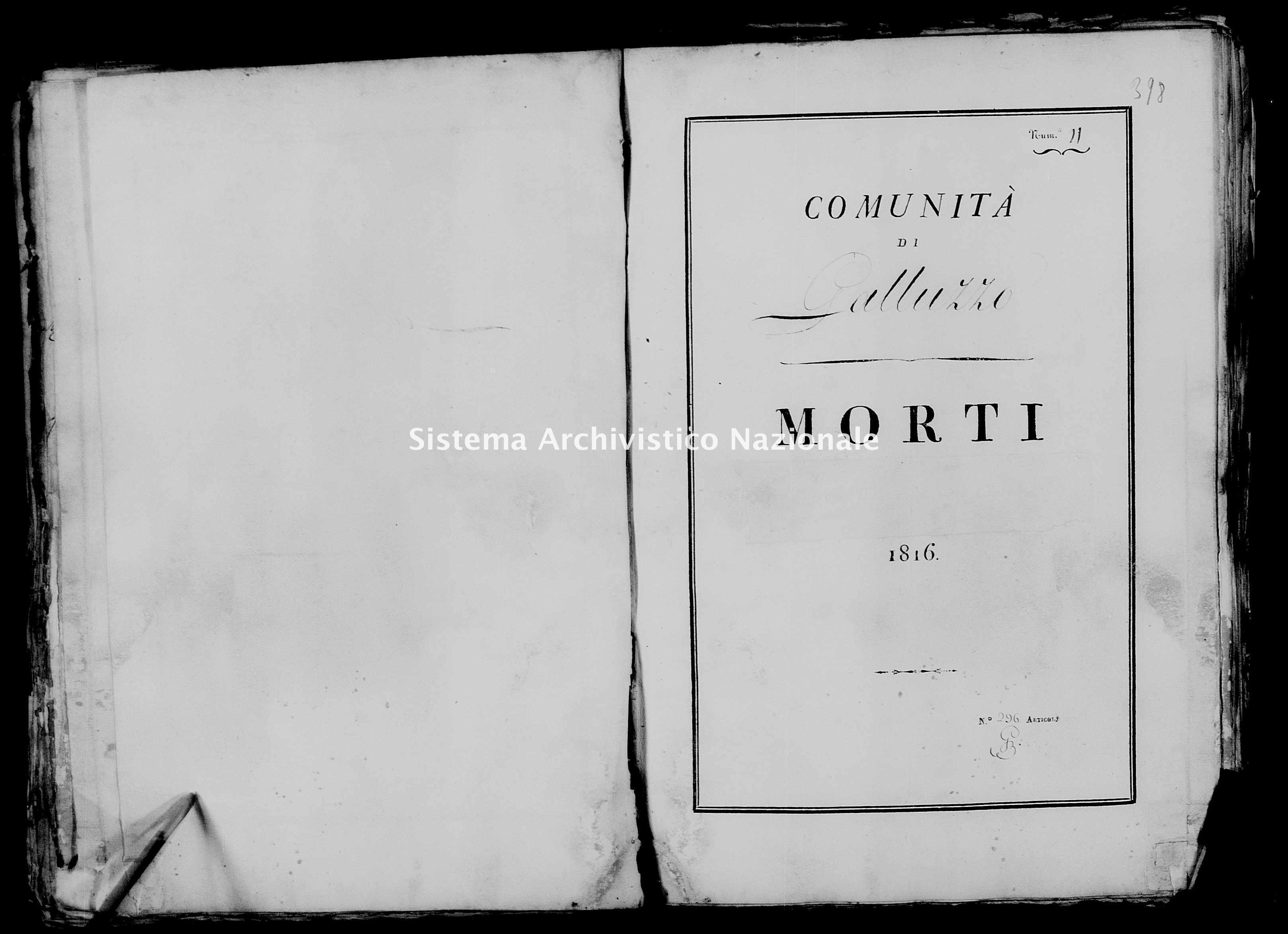 Archivio di stato di Firenze - Stato civile di Toscana (1808-1865) - Galluzzo - Morti - 1816 - 24 -