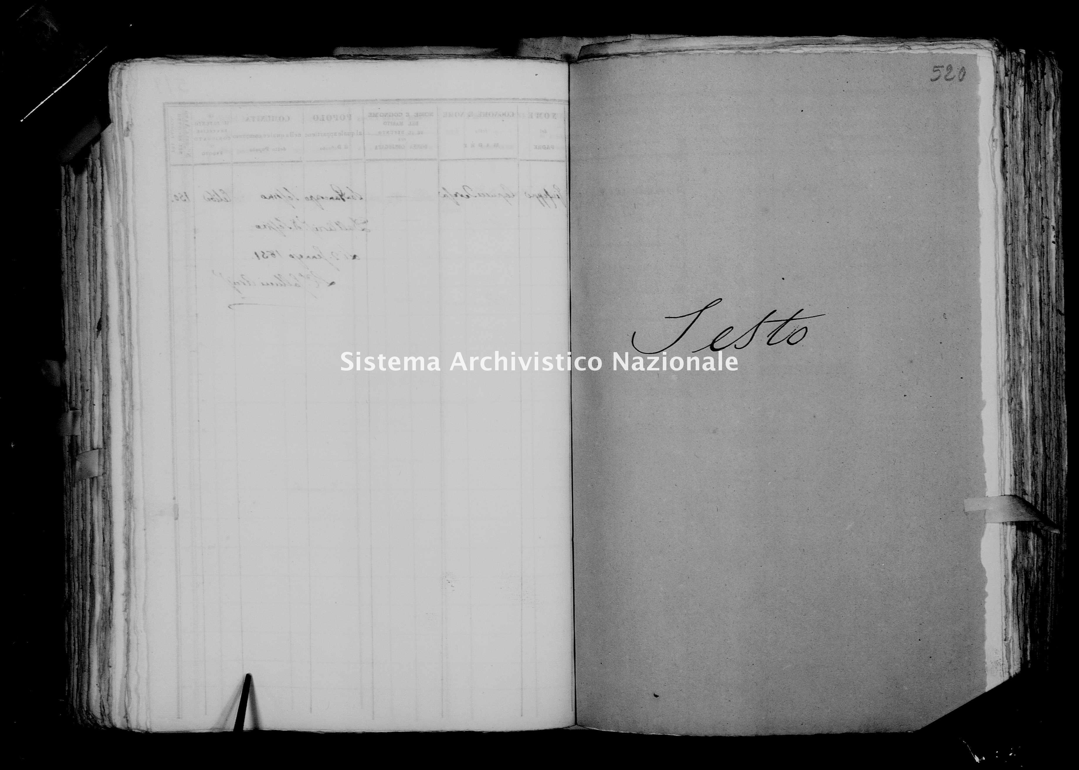 Archivio di stato di Firenze - Stato civile della restaurazione - Sesto - Morti - 1850 - 1759 -