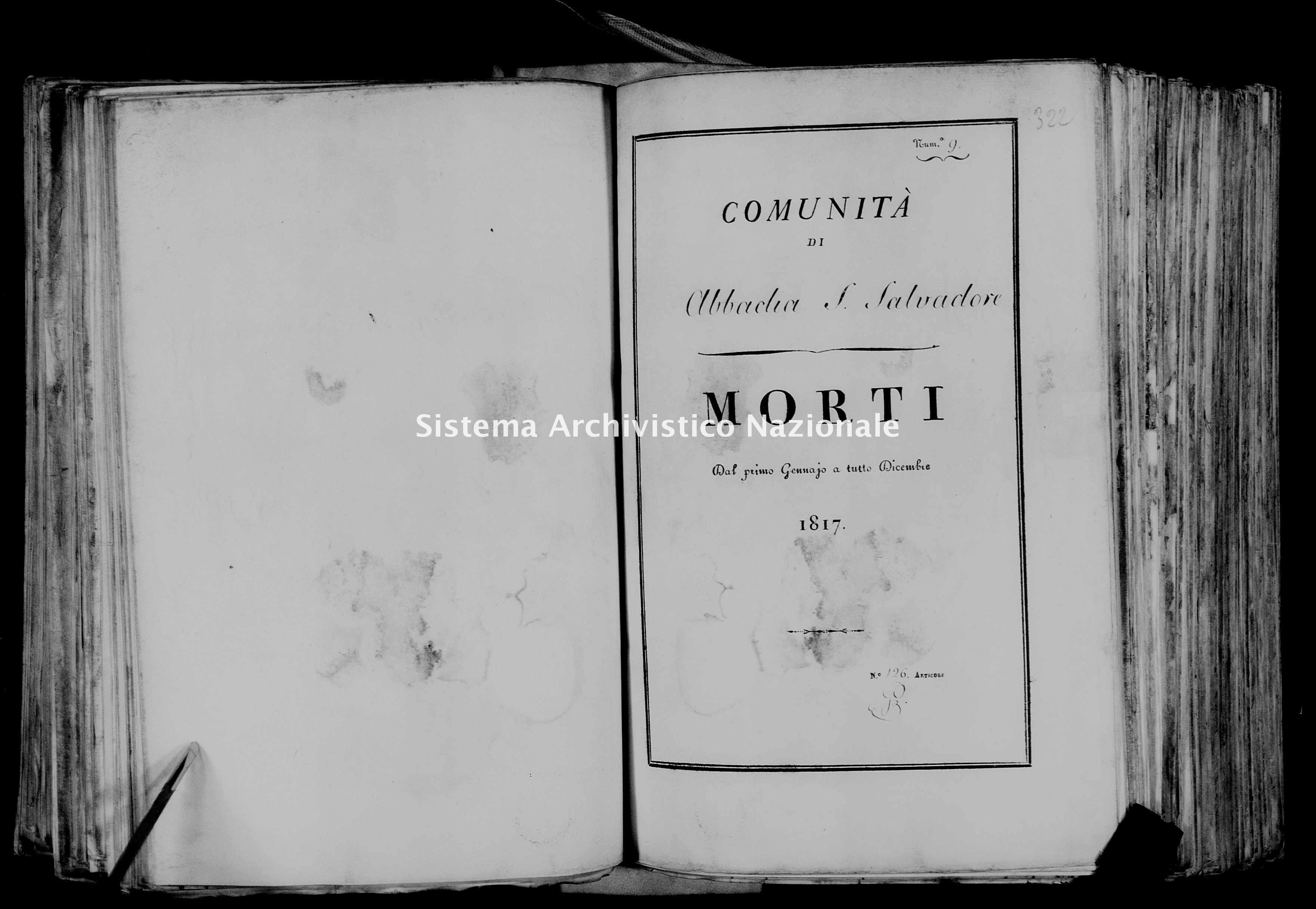 Archivio di stato di Firenze - Stato civile della restaurazione - Abbadia San Salvatore - Morti - 1817 - 50 -