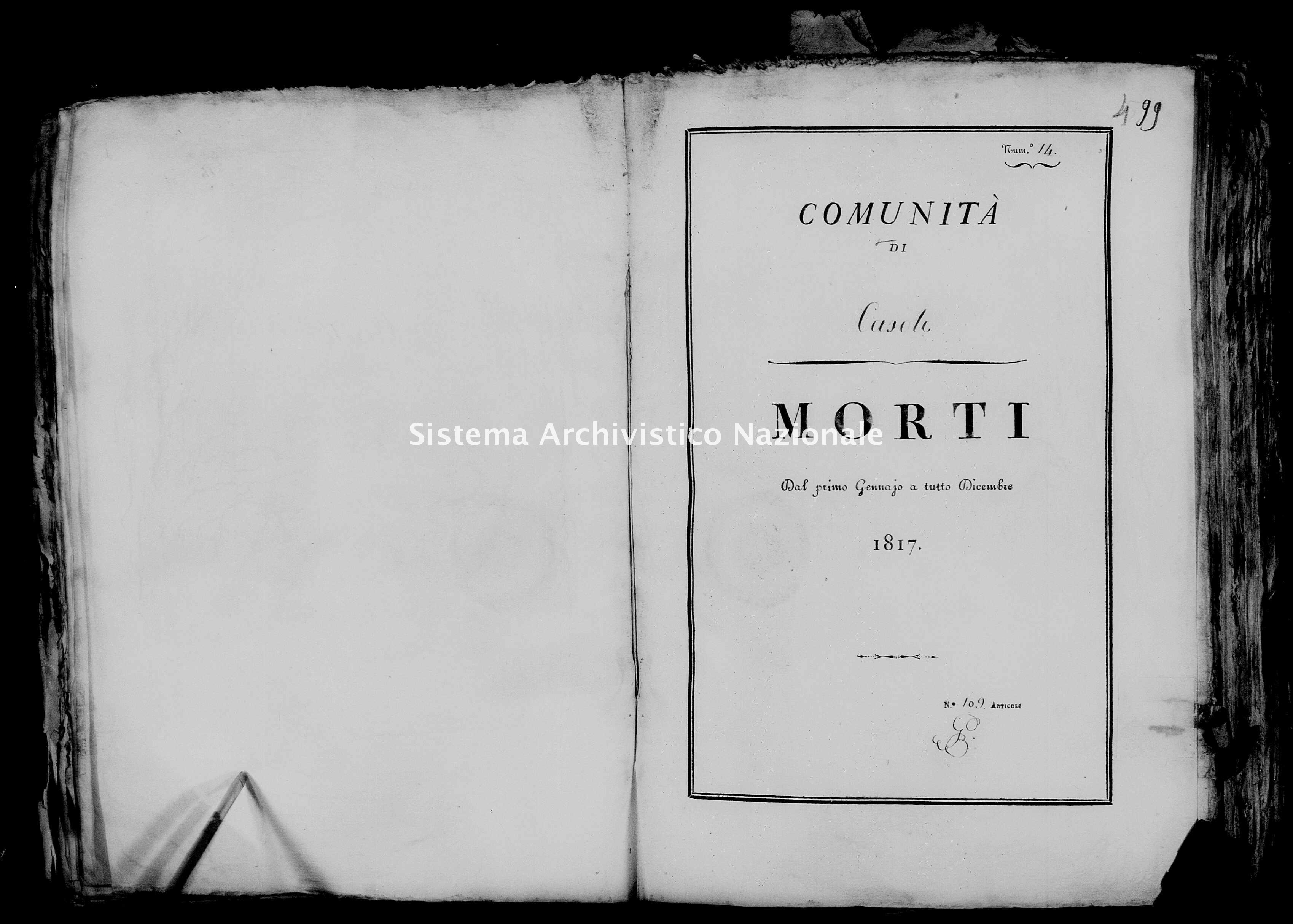 Archivio di stato di Firenze - Stato civile di Toscana (1808-1865) - Casole - Morti - 1817 - 48 -