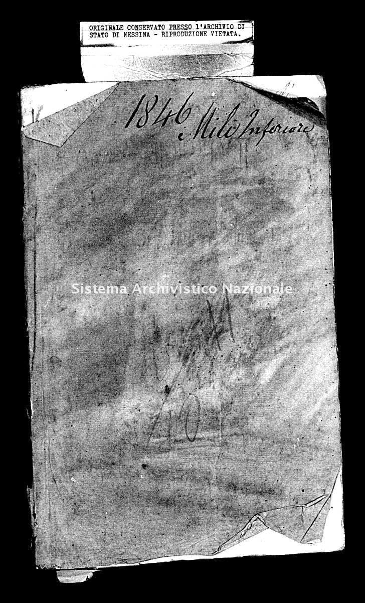Archivio di stato di Messina - Stato civile della restaurazione - Mili Inferiore - Matrimoni - 1846 - 243 -