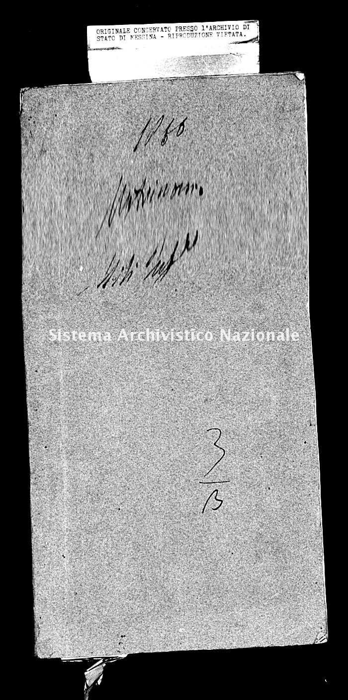 Archivio di stato di Messina - Stato civile della restaurazione - Mili Inferiore - Matrimoni - 1860 - 248 -