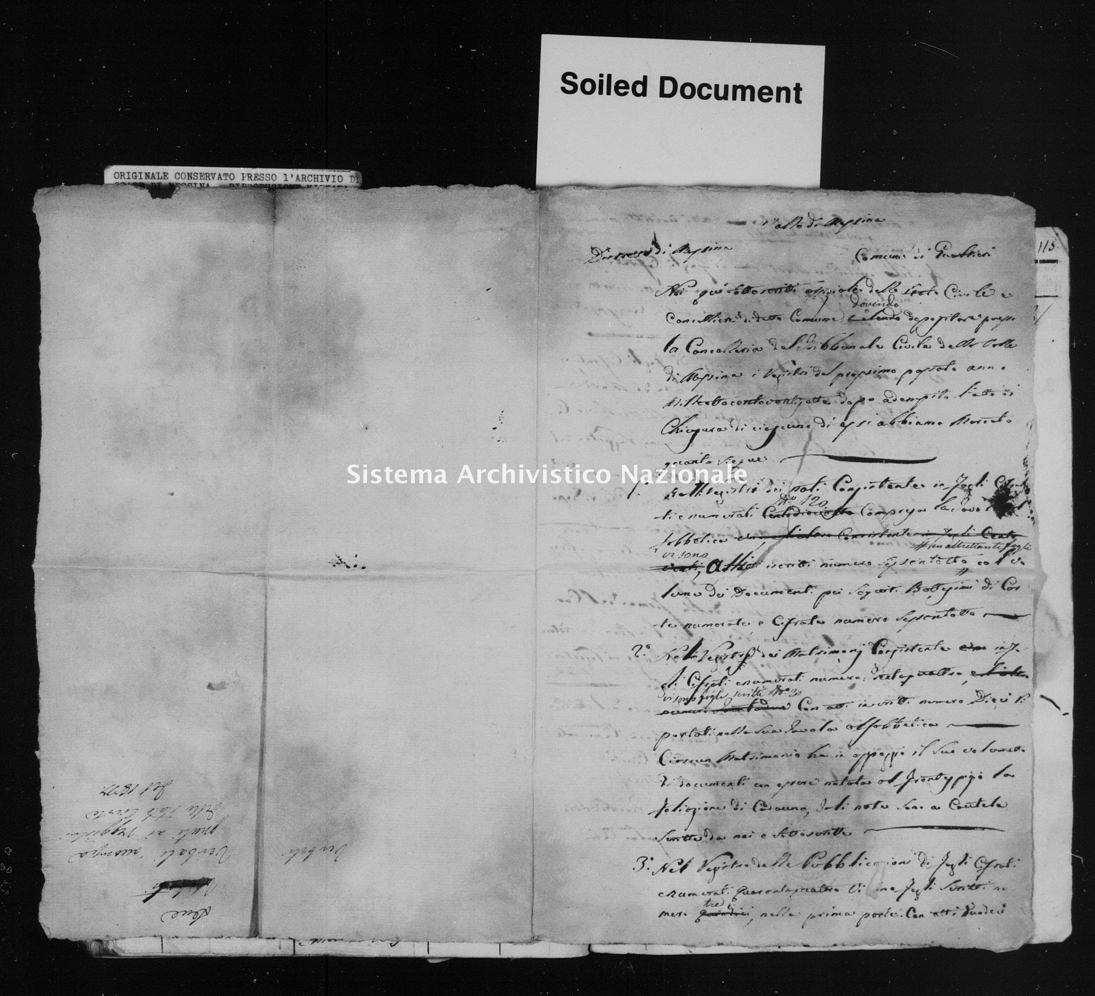 Archivio di stato di Messina - Stato civile della restaurazione - Gualtieri Sicaminò - Inventario - 1827 - 503 -