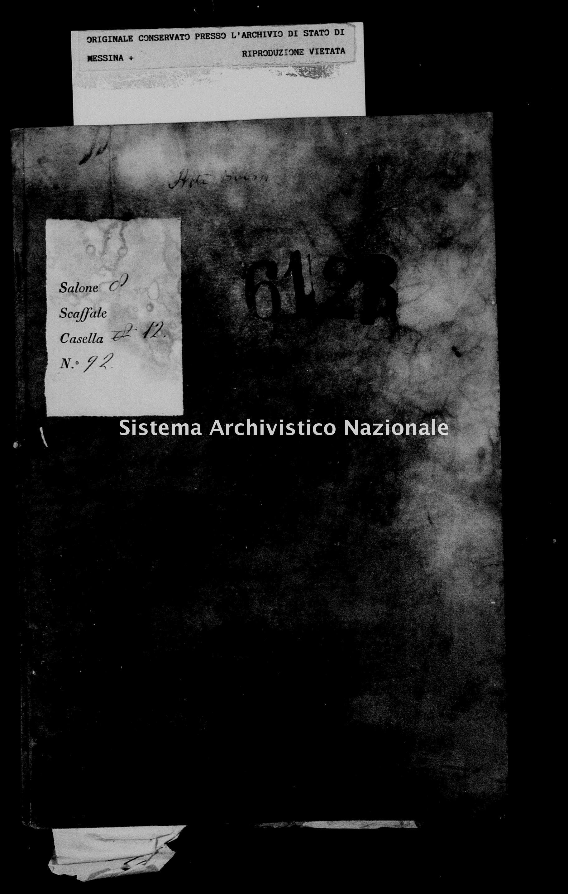 Archivio di stato di Messina - Stato civile della restaurazione - Militello - Diversi - 1834 - 737 -