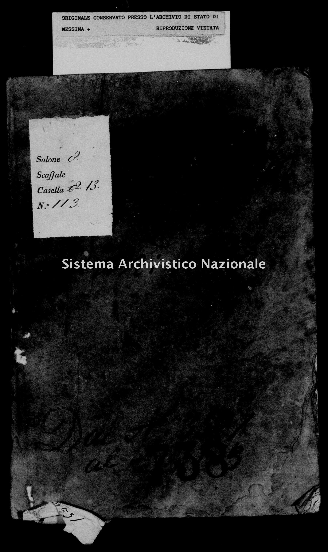 Archivio di stato di Messina - Stato civile della restaurazione - Militello - Diversi - 1837 - 738 -