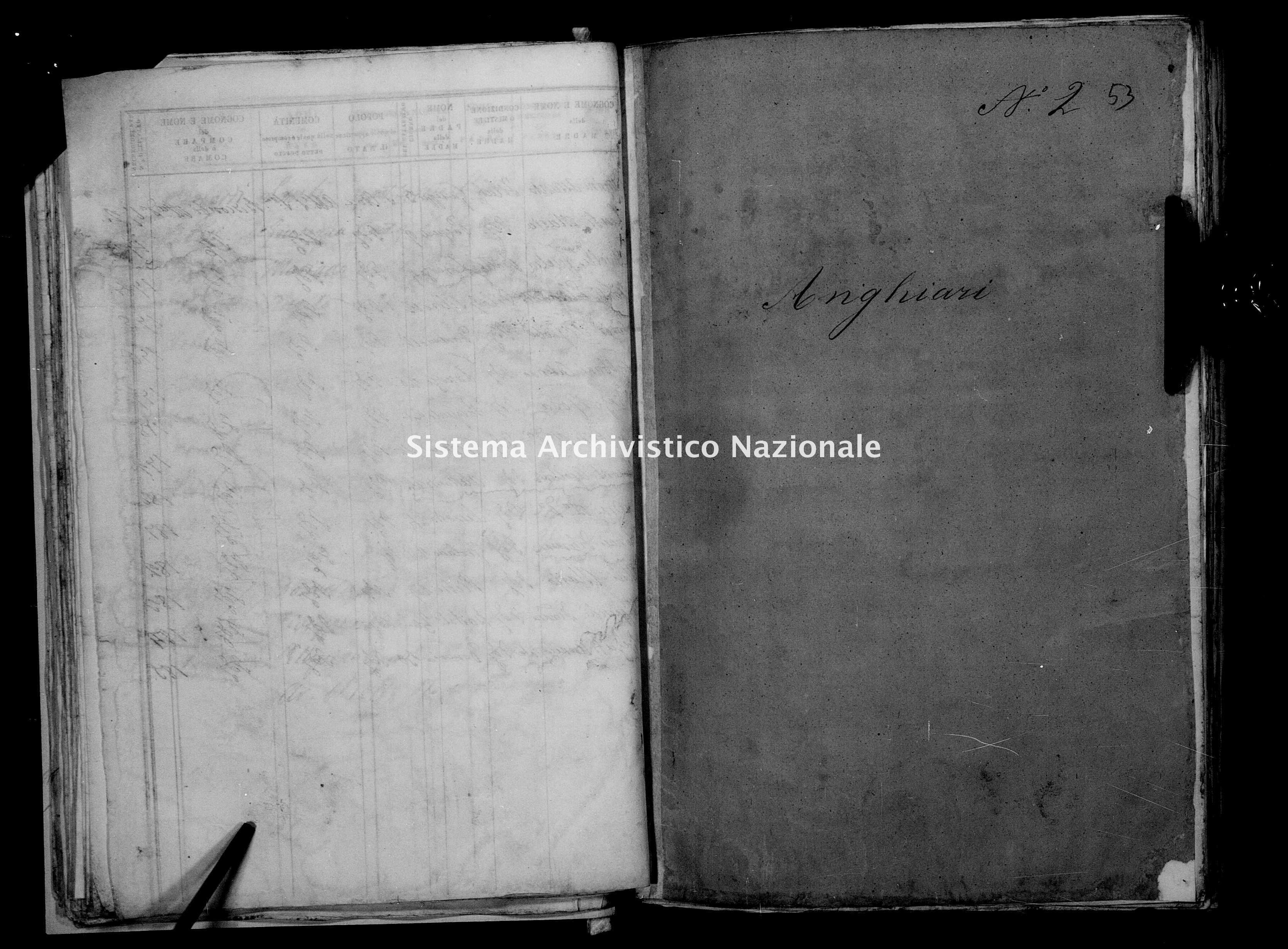 Archivio di stato di Firenze - Stato civile del circondario di Firenze (1866-1965) - Anghiari - Nati - 1862 - 1395 -