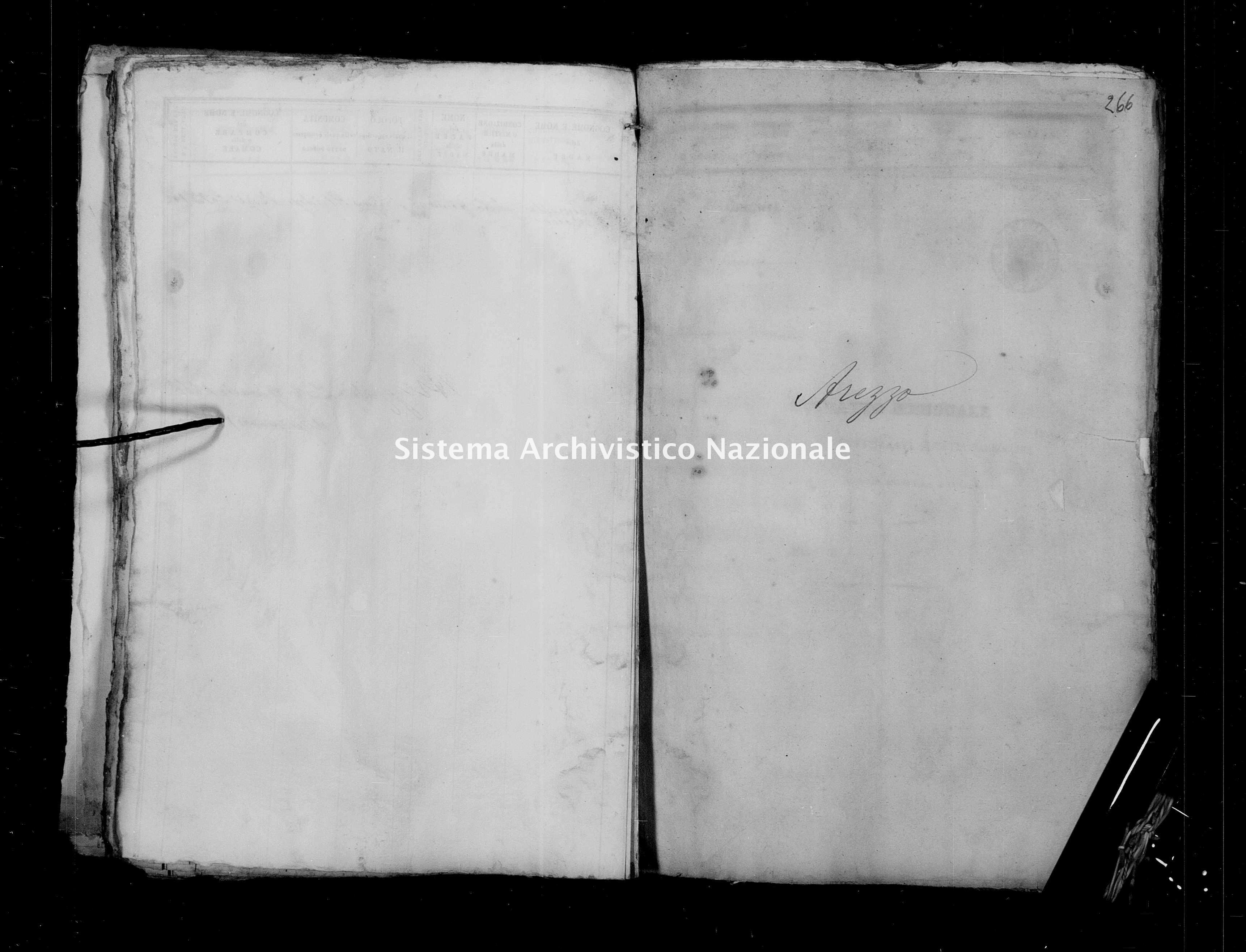 Archivio di stato di Firenze - Stato civile del circondario di Firenze (1866-1965) - Arezzo - Nati - 1865 - 1473 -