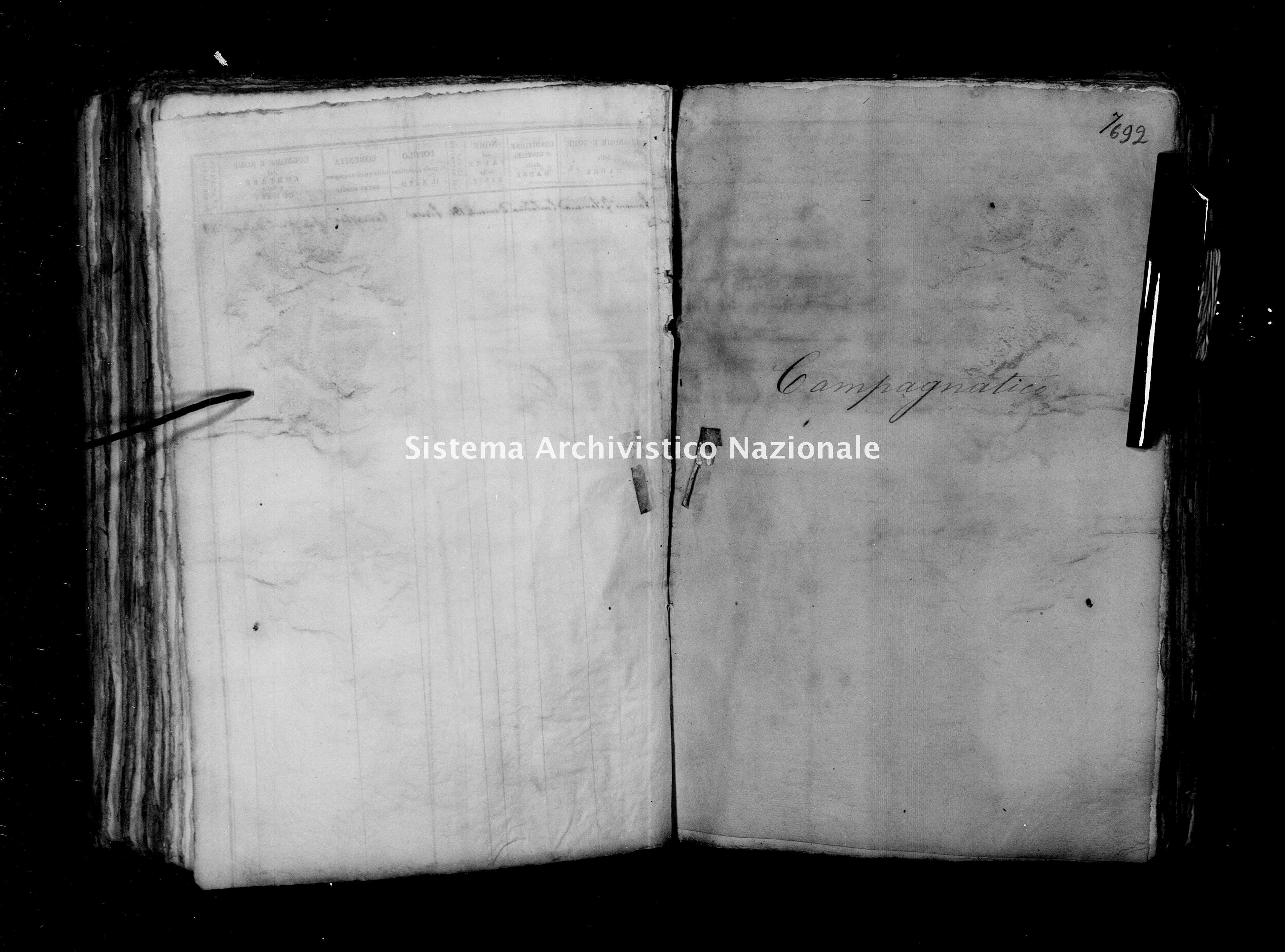 Archivio di stato di Firenze - Stato civile del circondario di Firenze (1866-1965) - Campagnatico - Nati - 1864 - 1450 -