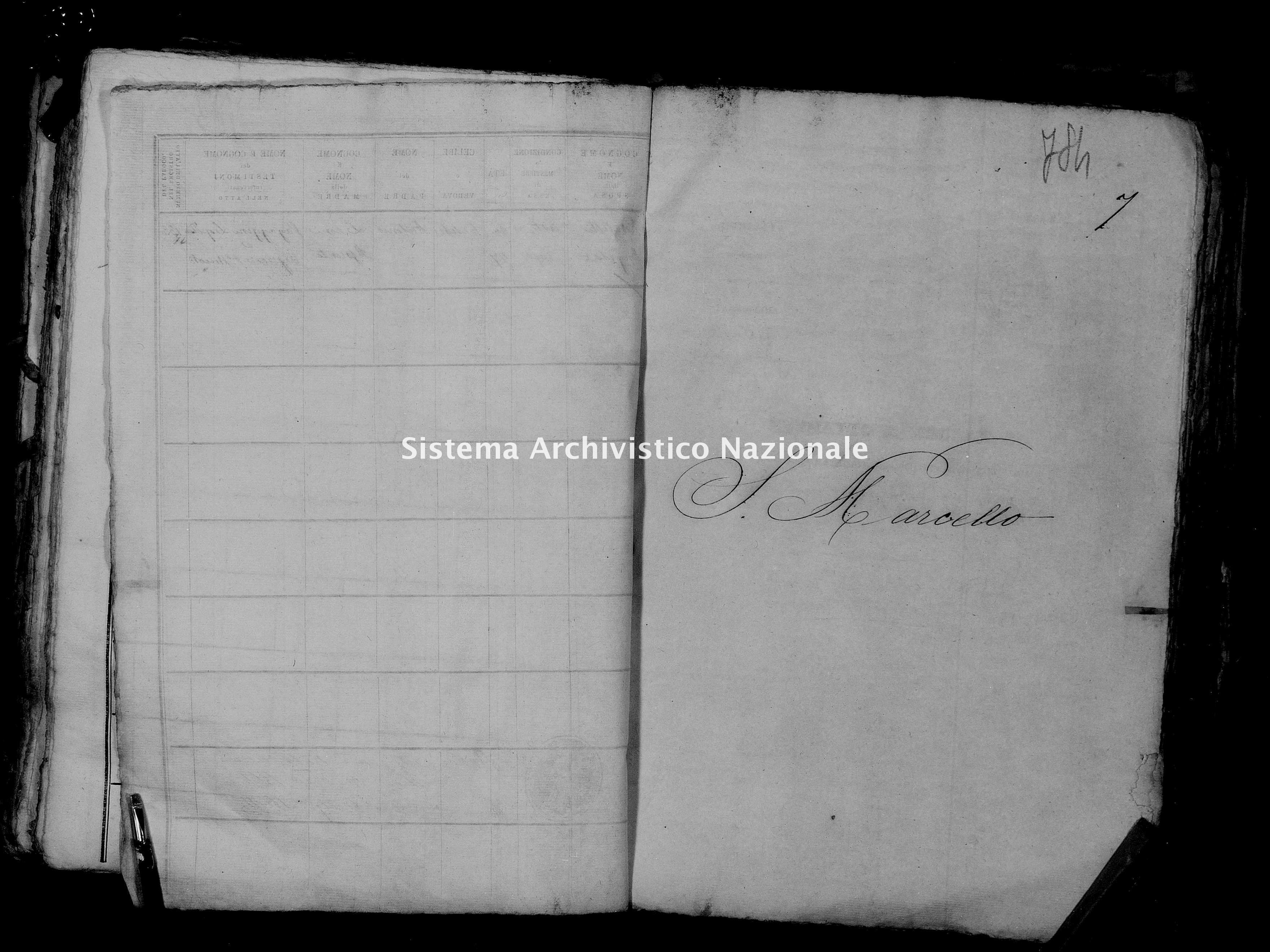 Archivio di stato di Firenze - Stato civile del circondario di Firenze (1866-1965) - San Marcello - Matrimoni - 1861 - 1315 -