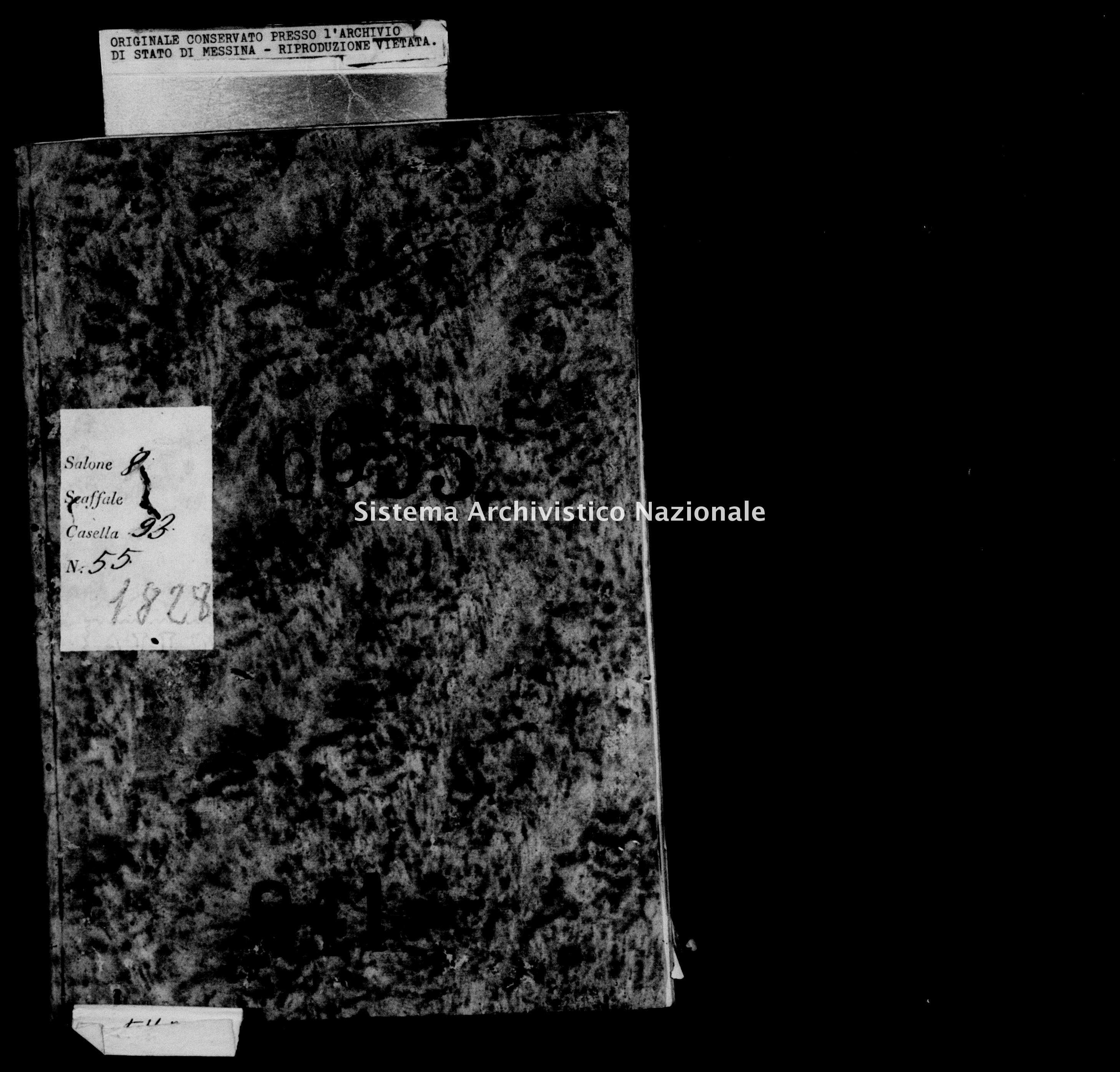 Archivio di stato di Messina - Stato civile della restaurazione - Mola - Morti - 1828 - 841 -