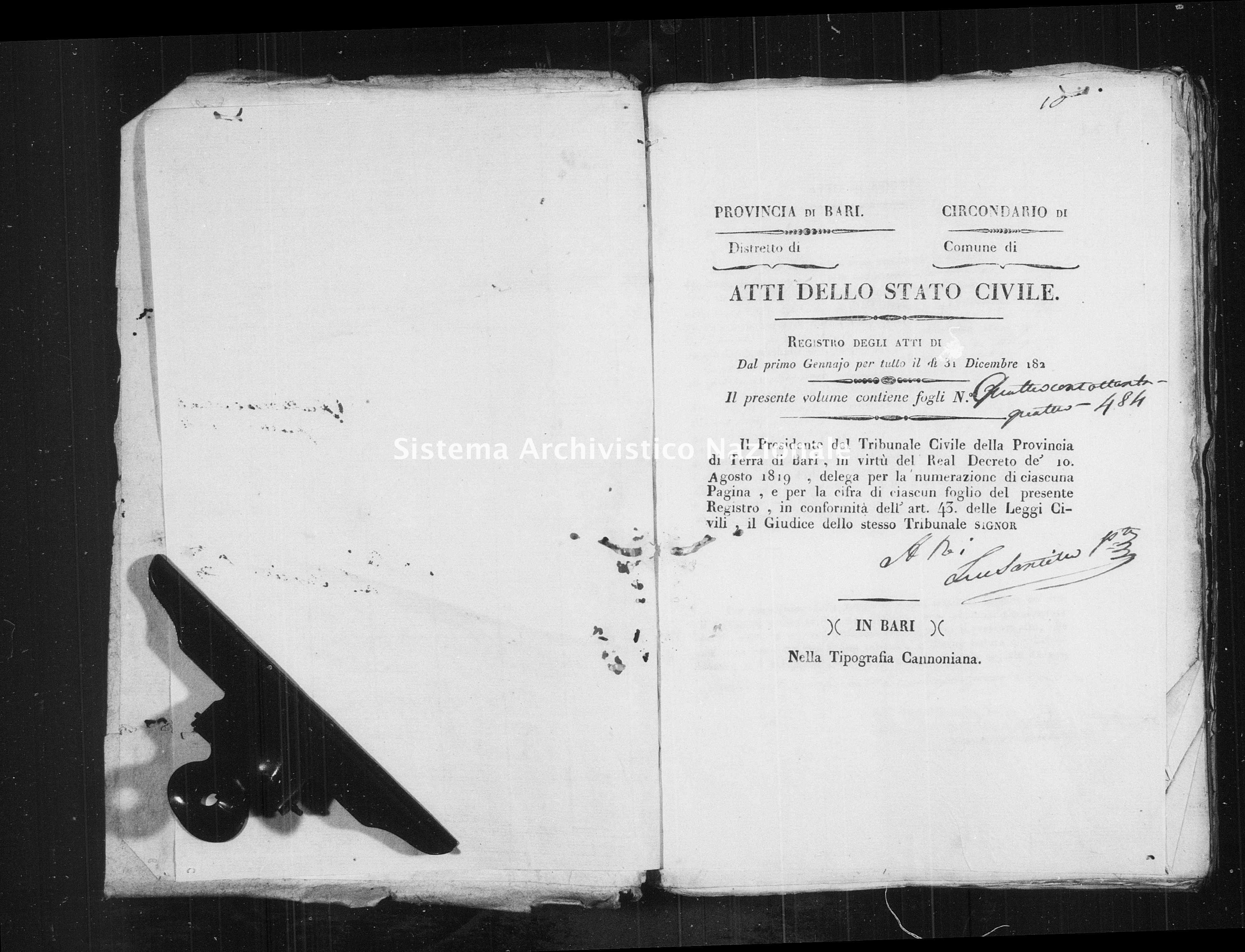 Archivio di stato di Bari - Stato civile della restaurazione - Mola - Morti - 1829 -