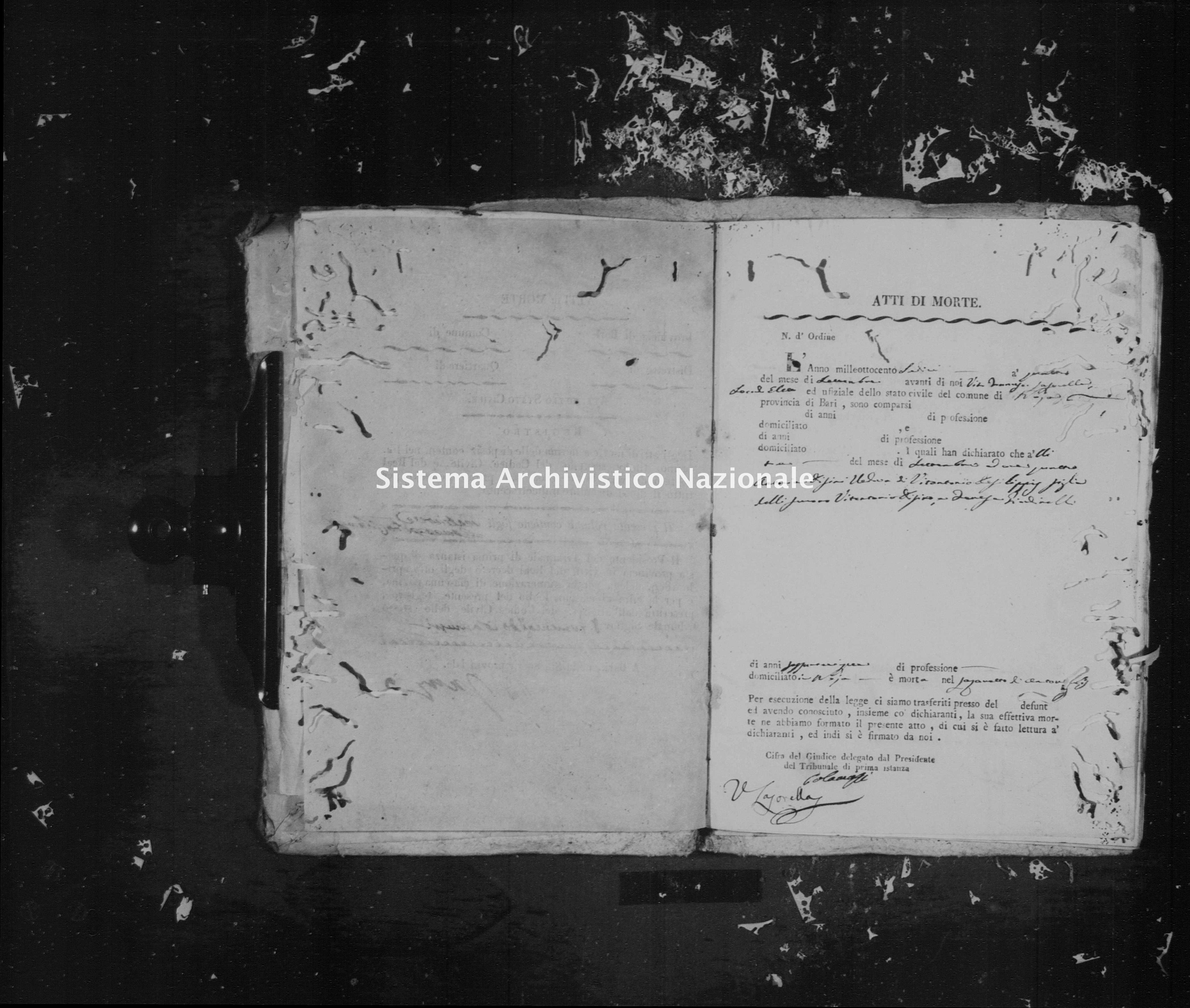 Archivio di stato di Bari - Stato civile della restaurazione - Noja - Morti - 1816 - Parte 3 -