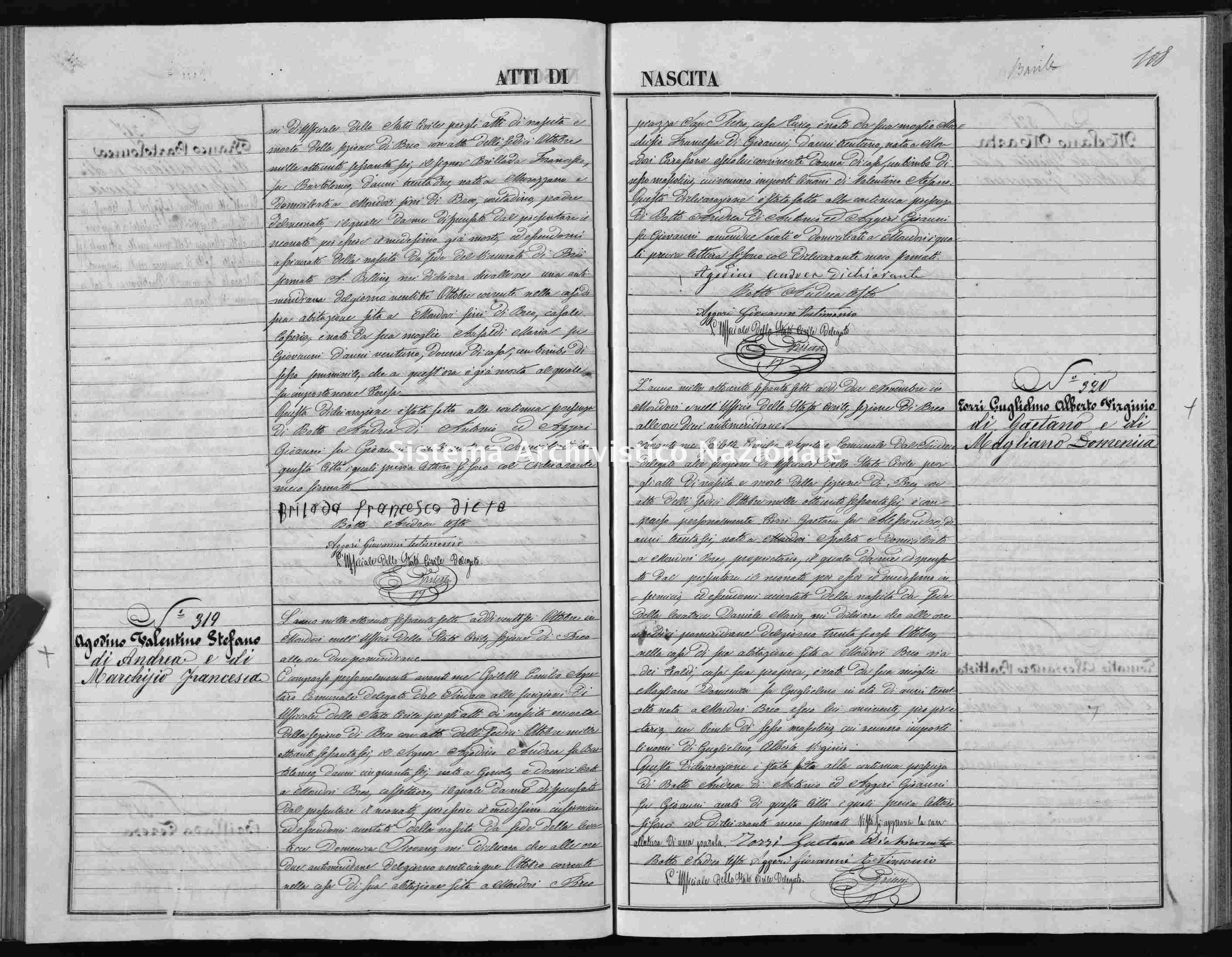 Archivio di stato di Cuneo - Stato civile italiano - Mondovì - Nati - 1867 -