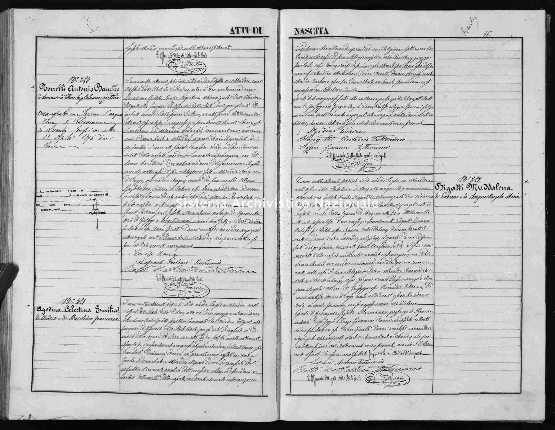 Archivio di stato di Cuneo - Stato civile italiano - Mondovì - Nati - 1870 -