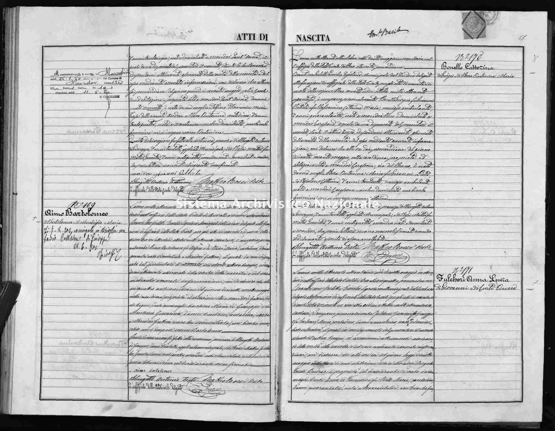 Archivio di stato di Cuneo - Stato civile italiano - Mondovì - Nati - 1872 -