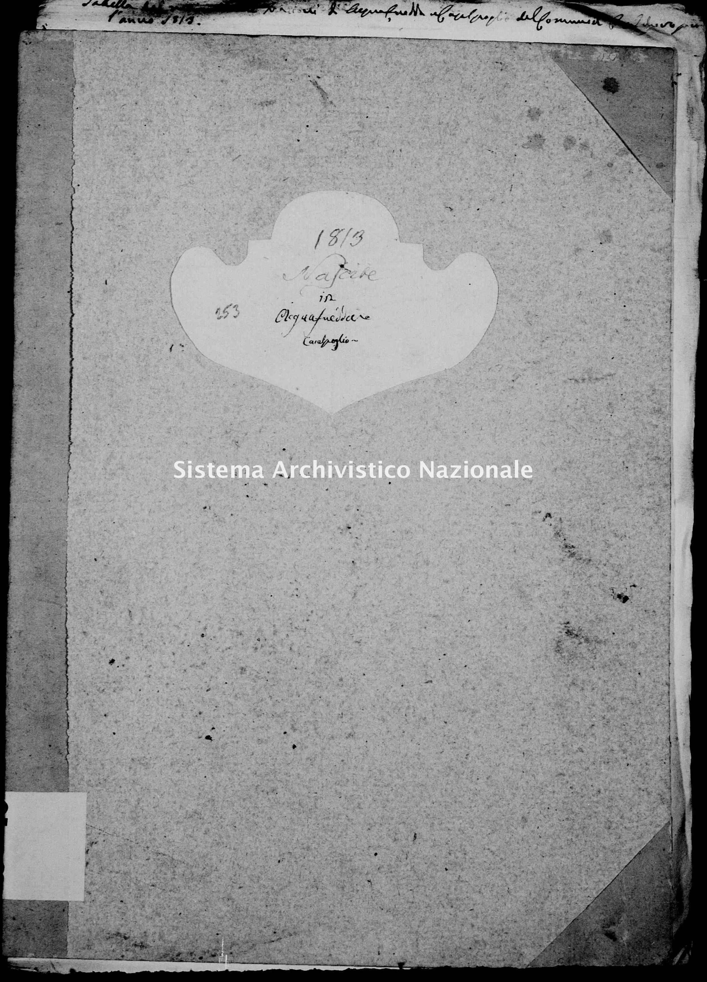 Archivio di stato di Mantova - Stato civile e anagrafe del Dipartimento del Mincio - Acquafredda-con-Casalpoglio-(frazioni-di-Casalmoro) - Nati - 1813 con indice - 253 -