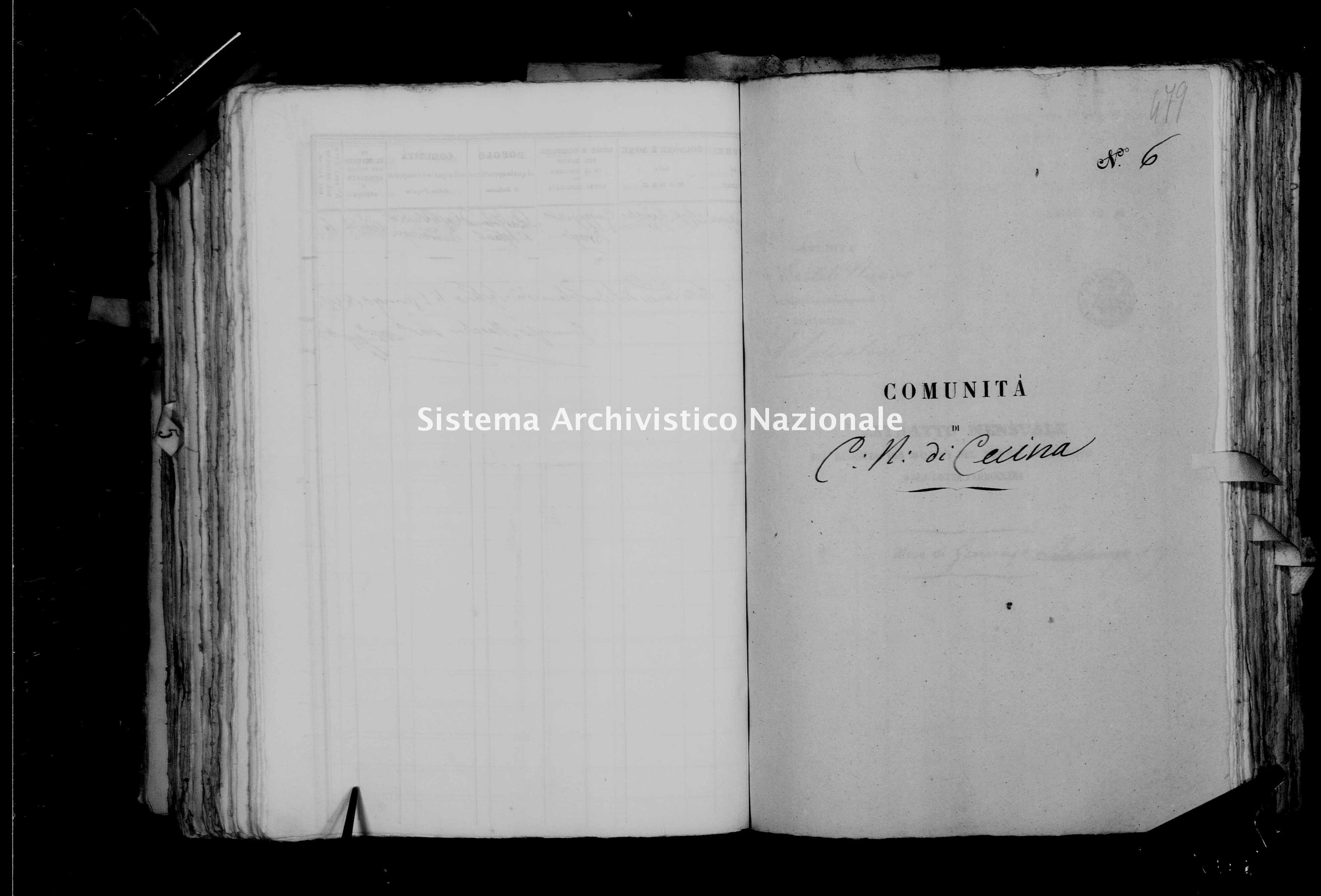 Archivio di stato di Firenze - Stato civile di Toscana (1808-1865) - Castelnuovo di Val di Cecina - Morti - 1851 - 1776 -