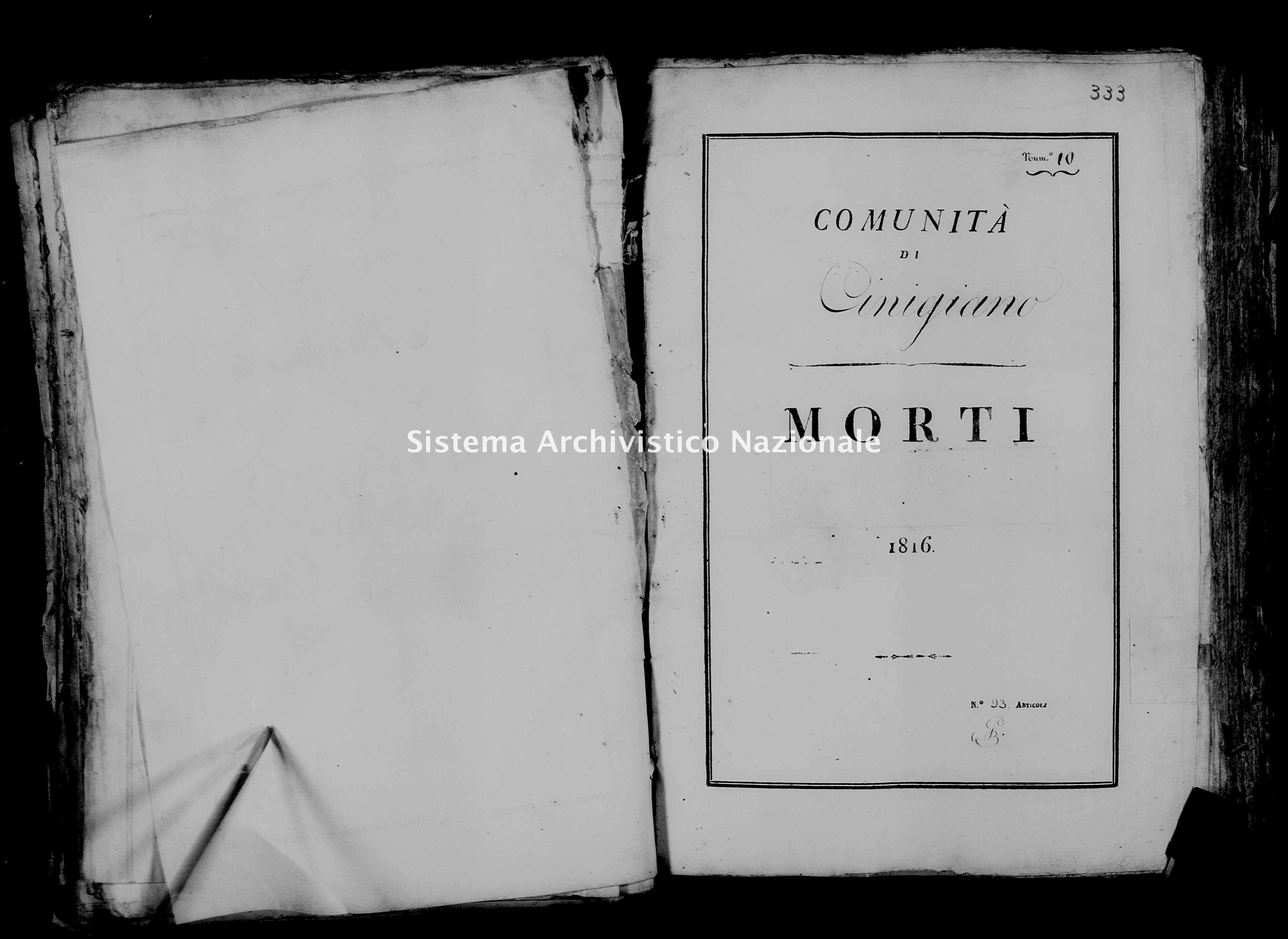 Archivio di stato di Firenze - Stato civile di Toscana (1808-1865) - Cinigiano - Morti - 1816 - 31 -
