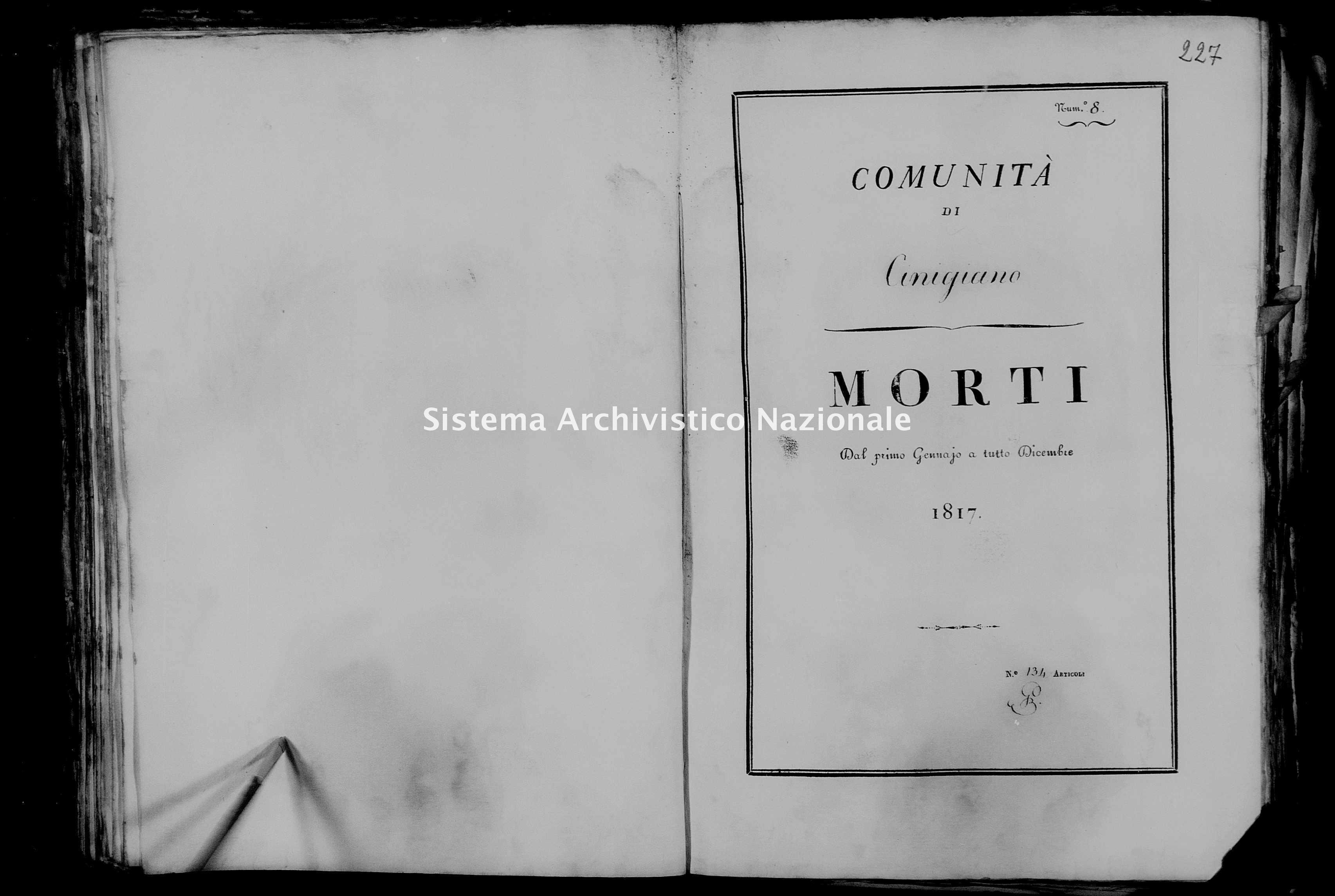 Archivio di stato di Firenze - Stato civile di Toscana (1808-1865) - Cinigiano - Morti - 1817 - 51 -