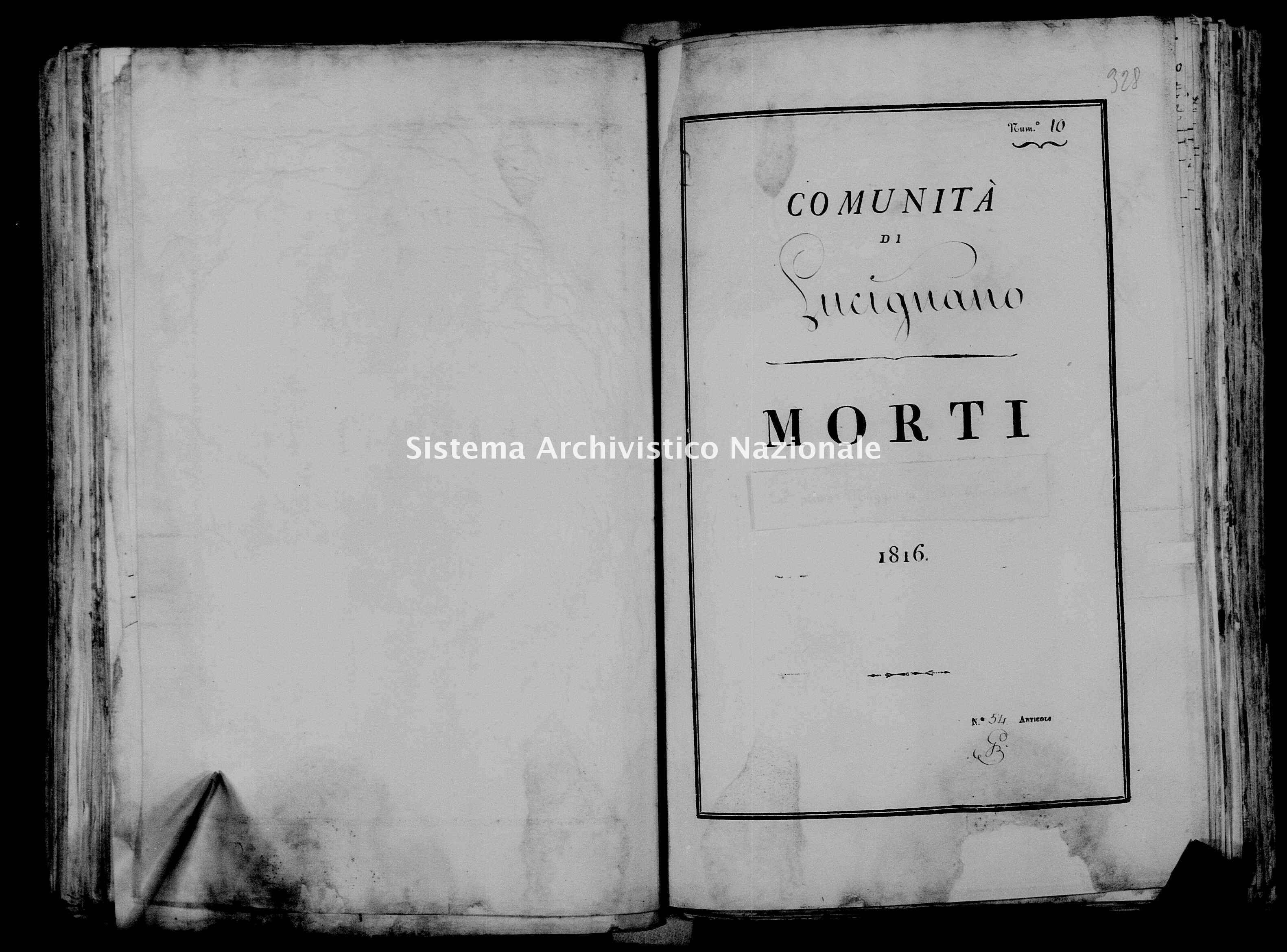 Archivio di stato di Firenze - Stato civile di Toscana (1808-1865) - Lucignano - Morti - 1816 - 37 -