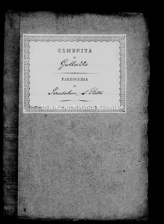 Archivio di stato di Firenze - Stato civile di Toscana (1808-1865) - Jerusalem-(Parrocchia-di-San-Pietro) - Censimento - 1841 -