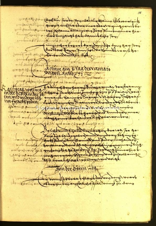 Archivio Storico della Città di Bolzano - Stadtarchiv Bozen - Hs. 18Aa. protocollo consiliare 1571
