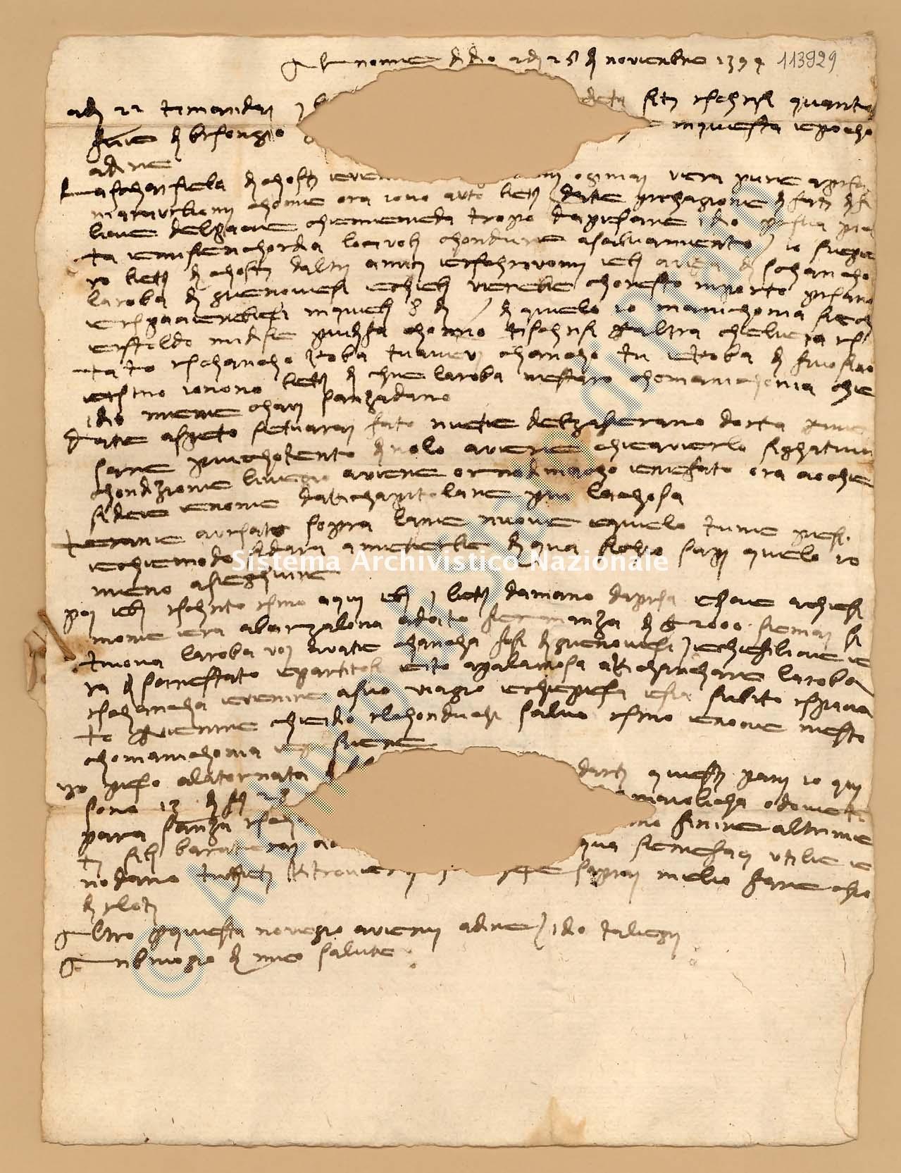 Archivio di Stato di Prato, Fondo Datini, Fondaco di Barcellona, Carteggio diretto al fondaco da Firenze, 857.1 Lettere Di Boni Ambrogio Di Meo a Datini Francesco Di Marco e Luca Del Sera e Comp. (busta 857, inserto 1, codice 113929)