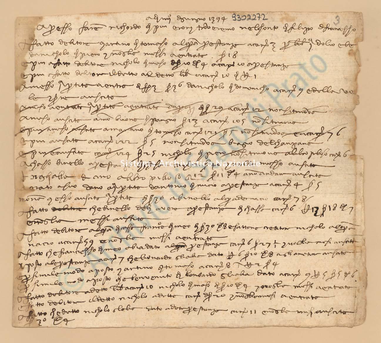 Archivio di Stato di Prato, Fondo Datini, Carteggio specializzato, Ricordanze, Busta 1166 (busta 1166, codice 9302272)