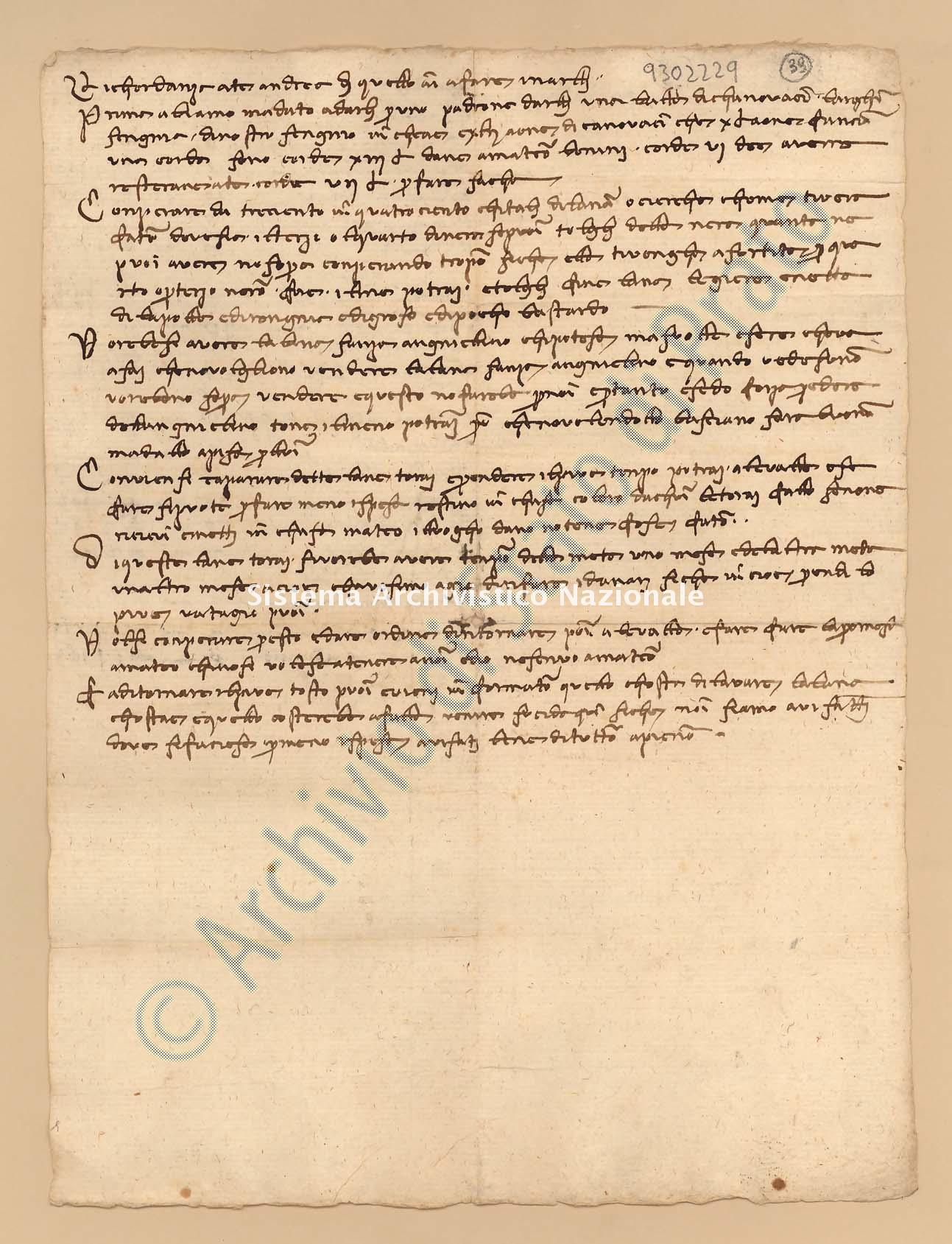 Archivio di Stato di Prato, Fondo Datini, Carteggio specializzato, Ricordanze, Busta 1166 (busta 1166, codice 9302229)
