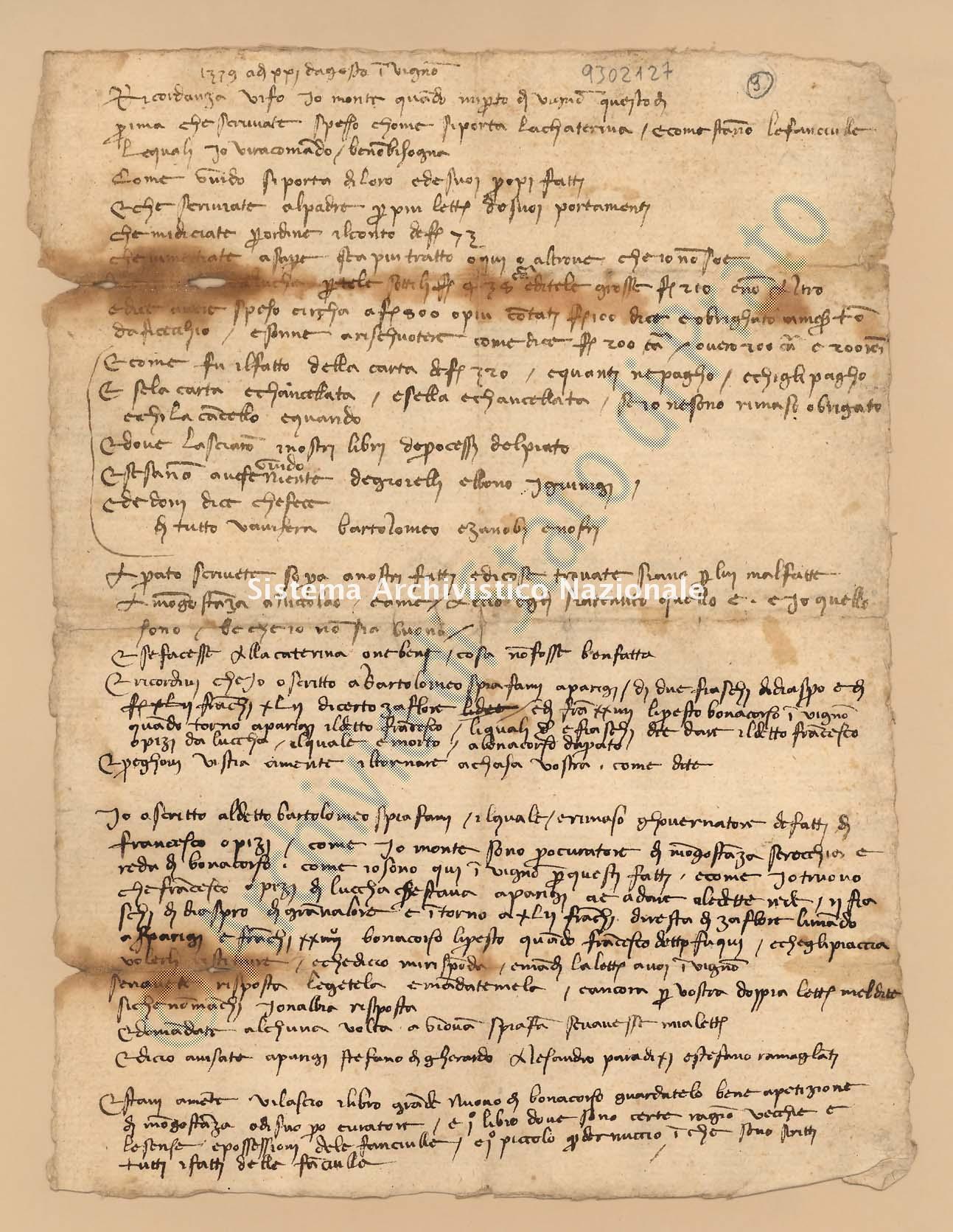Archivio di Stato di Prato, Fondo Datini, Carteggio specializzato, Ricordanze, Busta 1166 (busta 1166, codice 9302127)