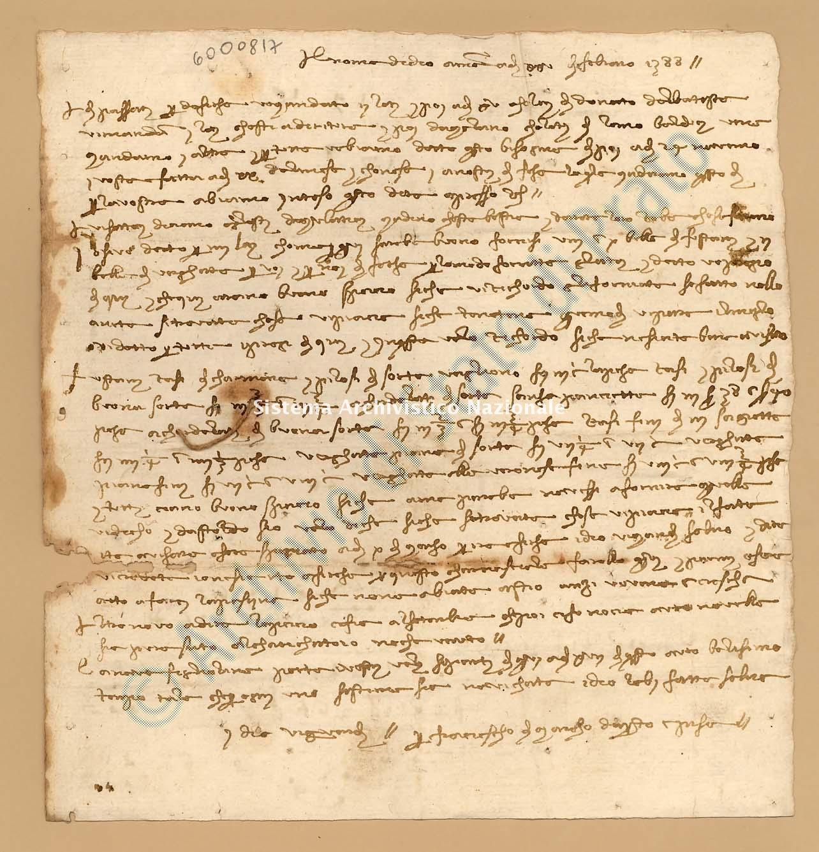 Archivio di Stato di Prato, Fondo Datini, Appendice al carteggio, 1116.66 Lettere Di Datini Francesco Di Marco a Domenico Di Cambio (busta 1116, inserto 66, codice 6000817)