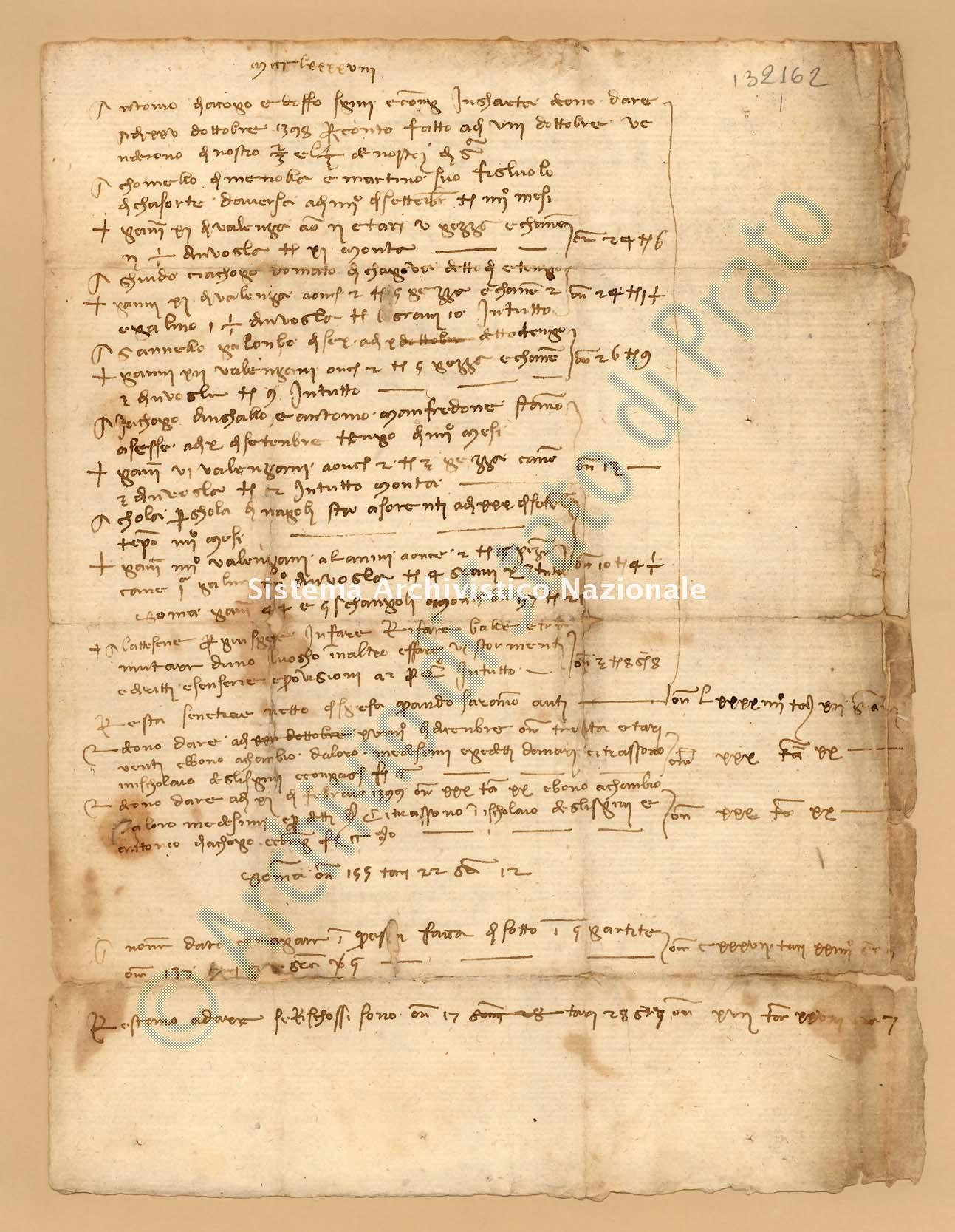 Archivio di Stato di Prato, Fondo Datini, Appendice al carteggio, 1116.71 Lettere Di Datini Francesco Di Marco e Comp. a Gherardini Geri e Bocci Niccolò Di Sandro (busta 1116, inserto 71, codice 132162)