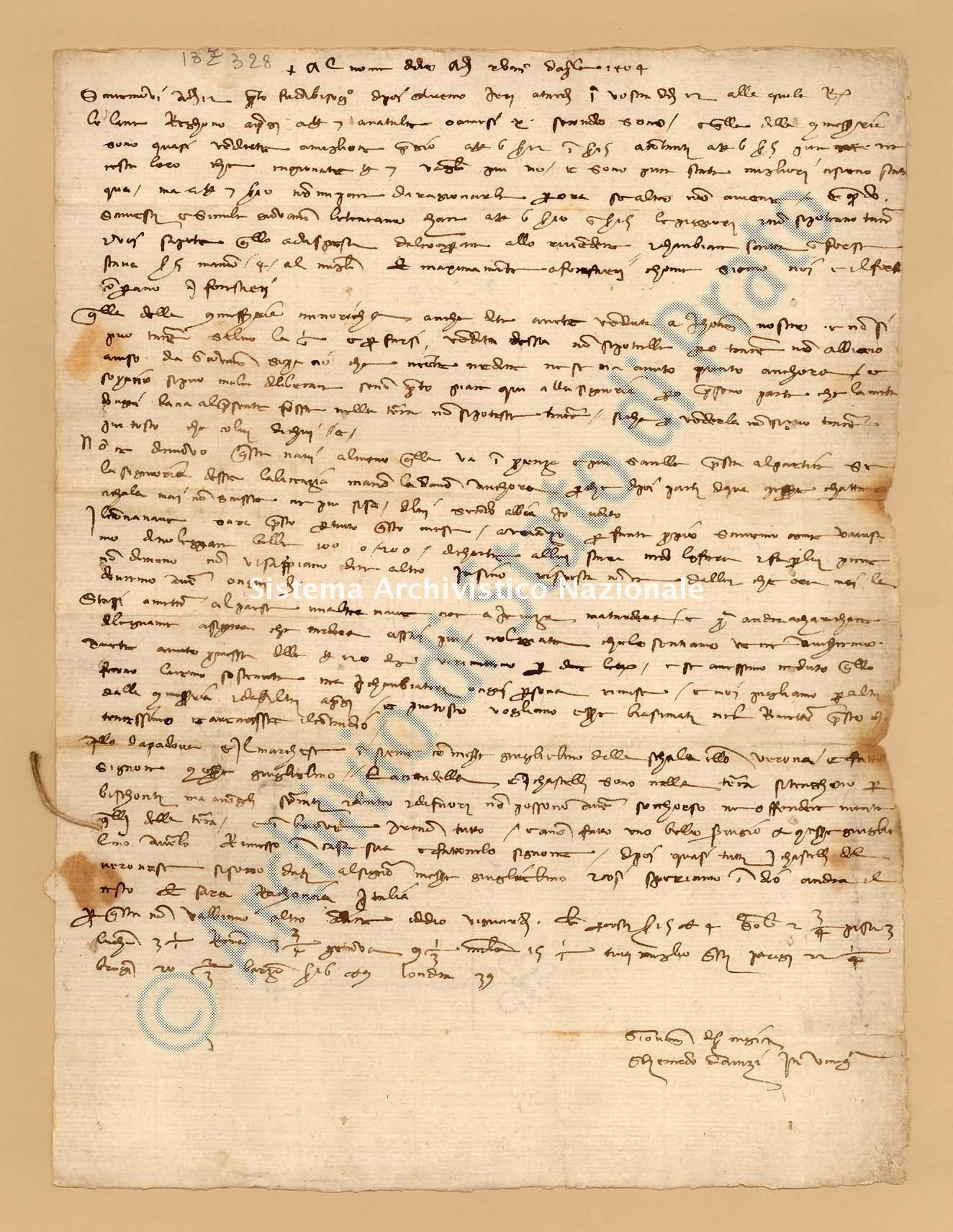 Archivio di Stato di Prato, Fondo Datini, Appendice al carteggio, 1116.72 Lettere Di Giovanni Di Ser Nigi (senigi) e Davizi Gherardo a Datini Francesco Di Marco (busta 1116, inserto 72, codice 132328)