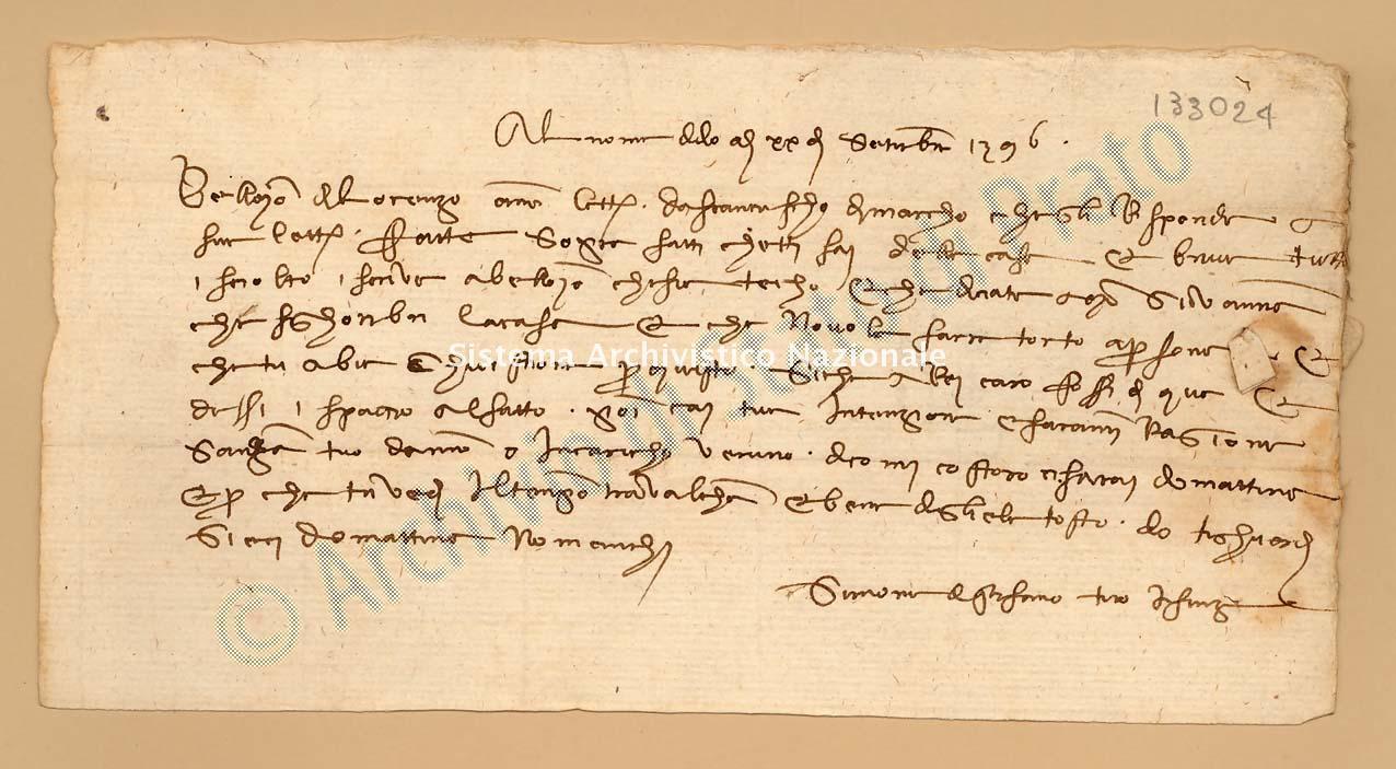 Archivio di Stato di Prato, Fondo Datini, Appendice al carteggio, 1116.119 Lettere Di Simone Di Stefano a Stoldo Di Lorenzo Di Ser Berizo (busta 1116, inserto 119, codice 133024)