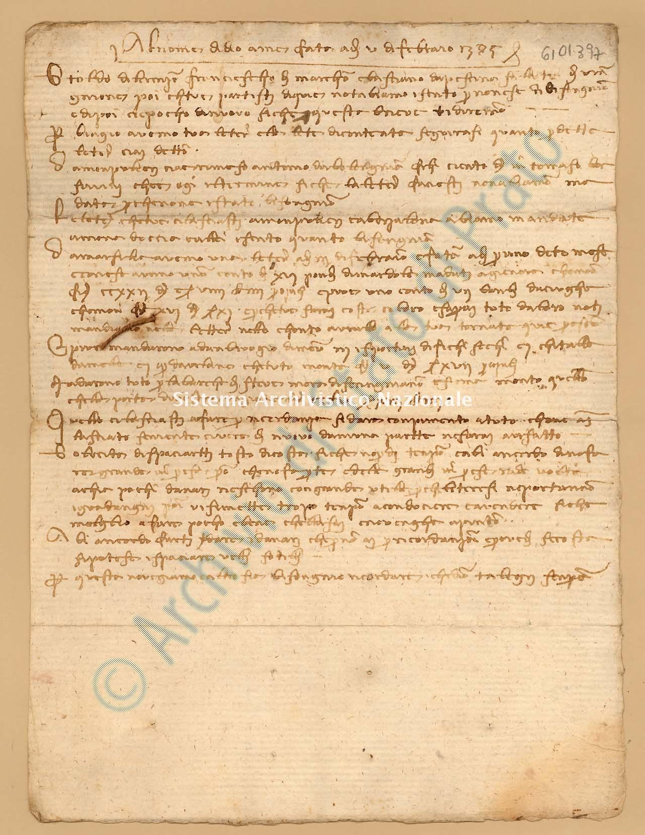 Archivio di Stato di Prato, Fondo Datini, Appendice al carteggio, 1116.120 Lettere Di Datini Francesco Di Marco e Basciano Da Pescina a Stoldo Di Lorenzo Di Ser Berizo (busta 1116, inserto 120, codice 6101397)