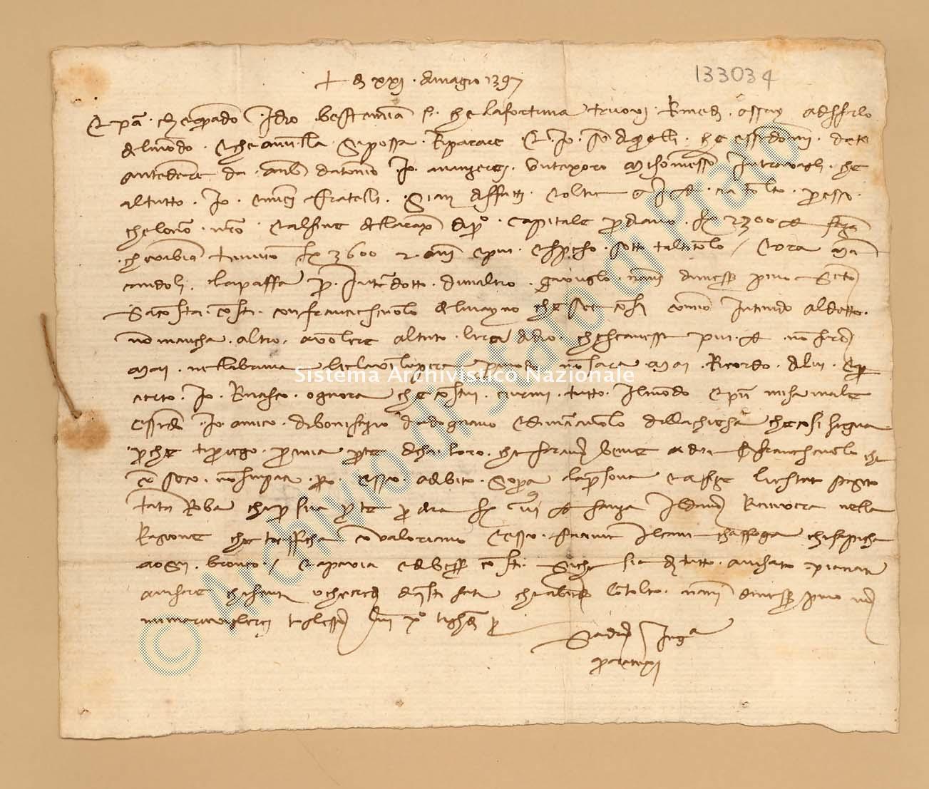 Archivio di Stato di Prato, Fondo Datini, Appendice al carteggio, 1116.132 Lettere Di Quaratesi Sandro a Manni Iacopo, Ser, e Vinciguerra Di Niccolò (busta 1116, inserto 132, codice 133034)