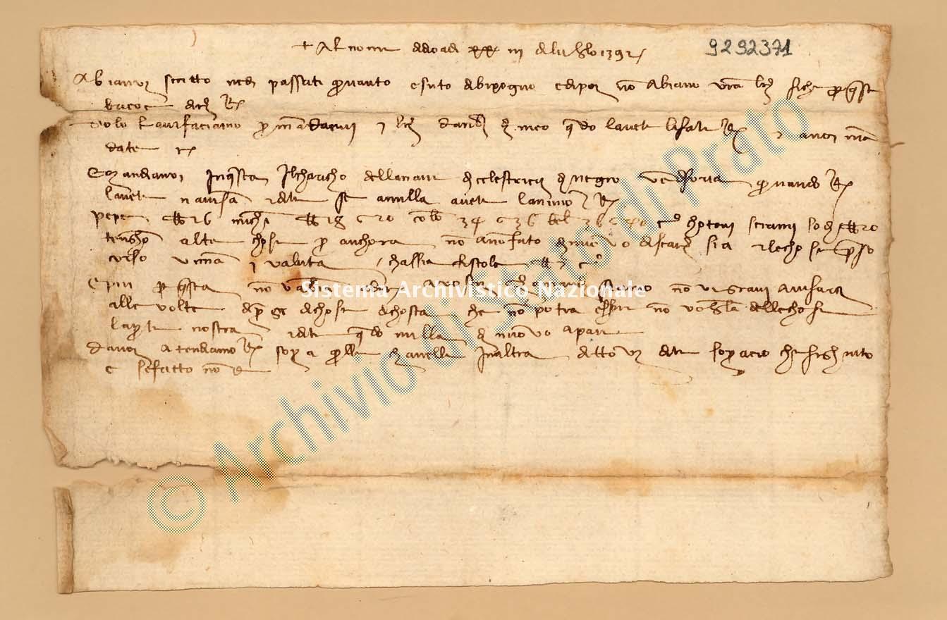 Archivio di Stato di Prato, Fondo Datini, Appendice al carteggio, 1116.155 Lettere Di Datini Francesco Di Marco e Comp. a Ambrogi Deo e Franceschi Giovanni e Comp. (busta 1116, inserto 155, codice 9292371)