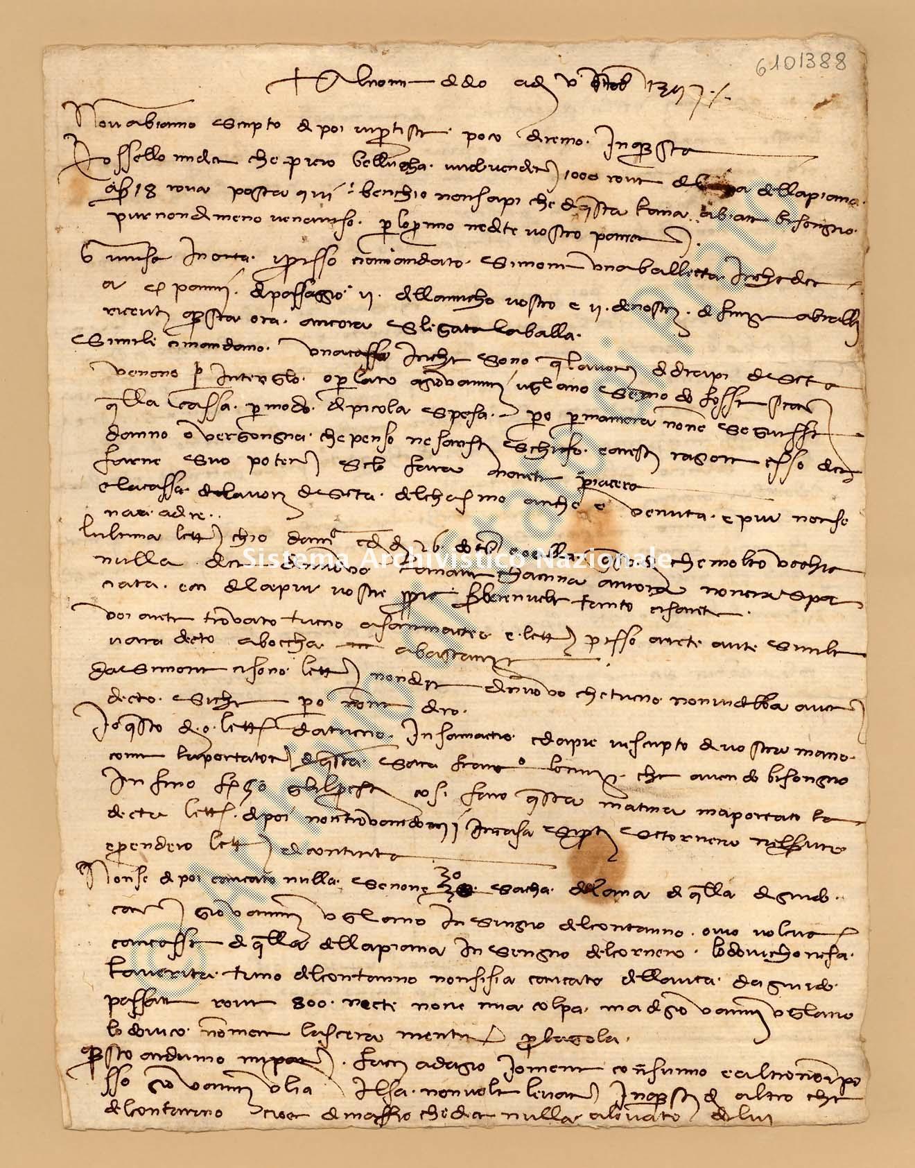 Archivio di Stato di Prato, Fondo Datini, Appendice al carteggio, 1116.166 Lettere Di Datini Francesco Di Marco e Luca Del Sera e Comp. a Luca Del Sera (busta 1116, inserto 166, codice 6101388)