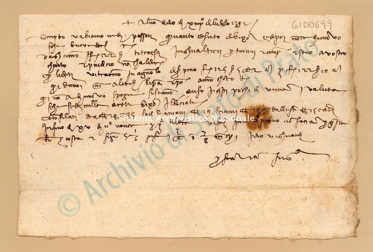 Archivio di Stato di Prato, Fondo Datini, Appendice al carteggio, 1116.233 Lettere Di Datini Francesco Di Marco e Comp. a Gerini Domenico Di Giovanni e Comp. (busta 1116, inserto 233, codice 6100699)